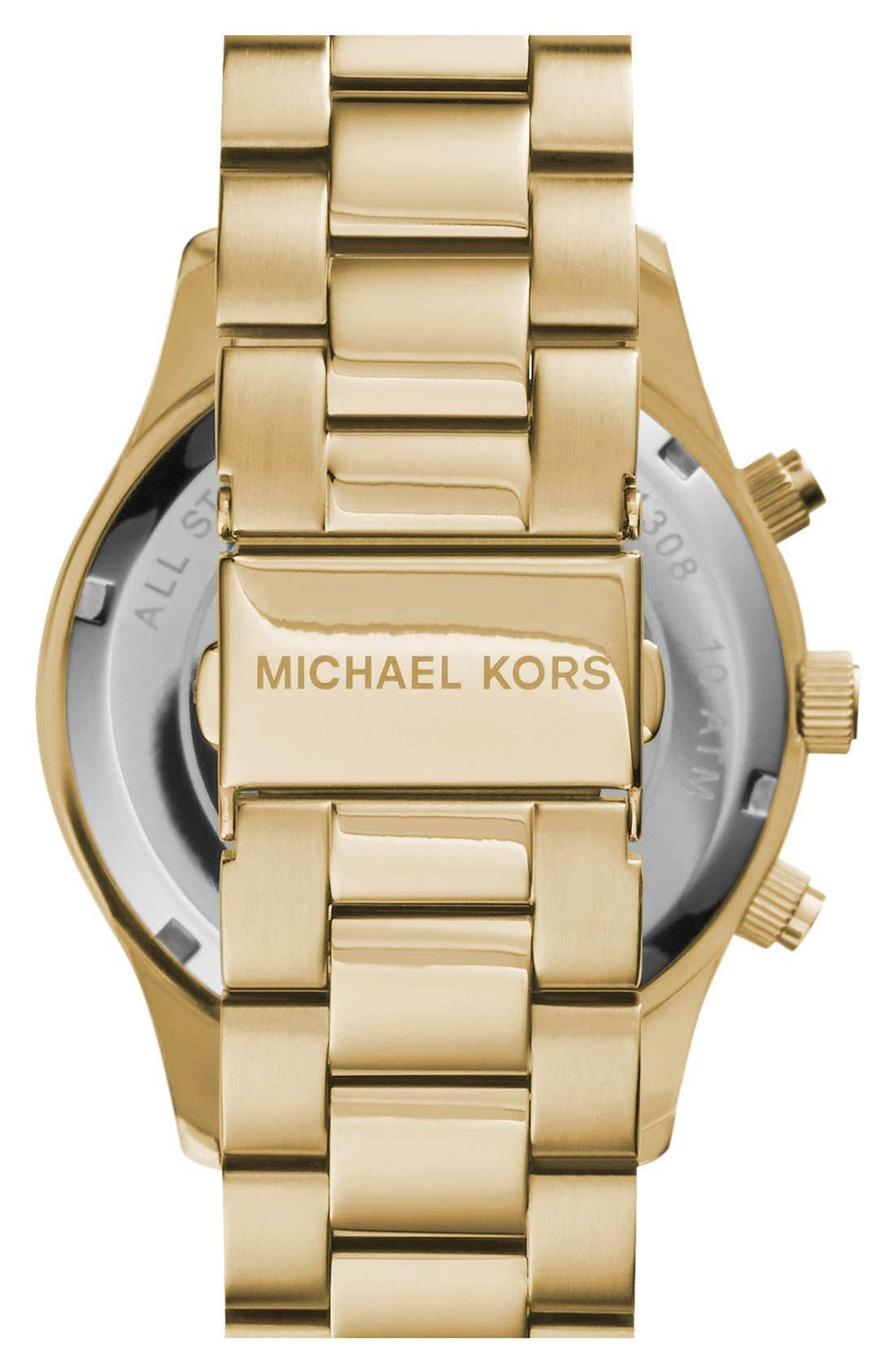 Alternate Image 2  - Michael Kors 'Large Layton' Chronograph Watch, 45mm