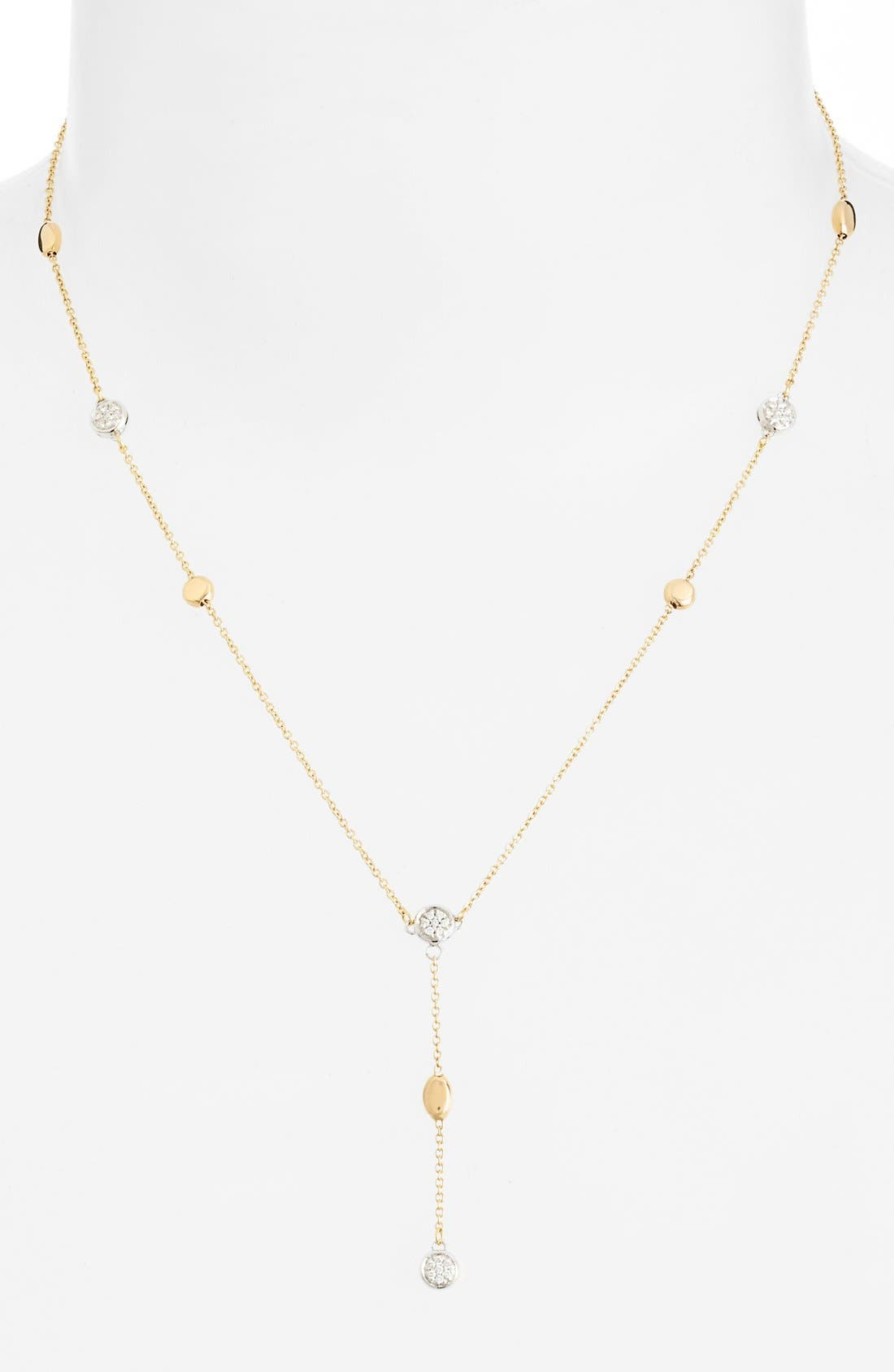Main Image - Roberto Coin Diamond Station Y-Necklace