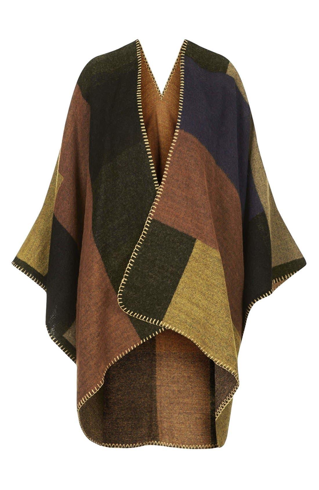 Alternate Image 3  - Topshop Blanket Stitch Cape