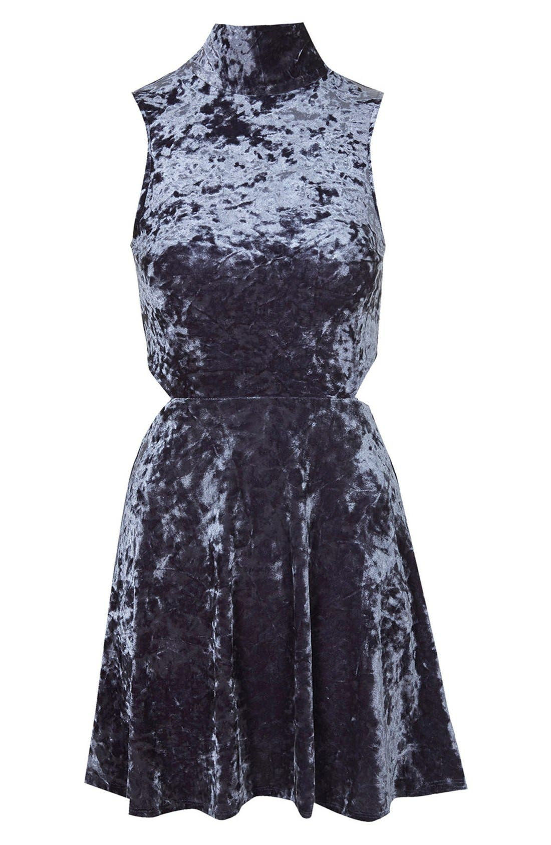 Alternate Image 3  - Topshop Cutout Velvet Dress