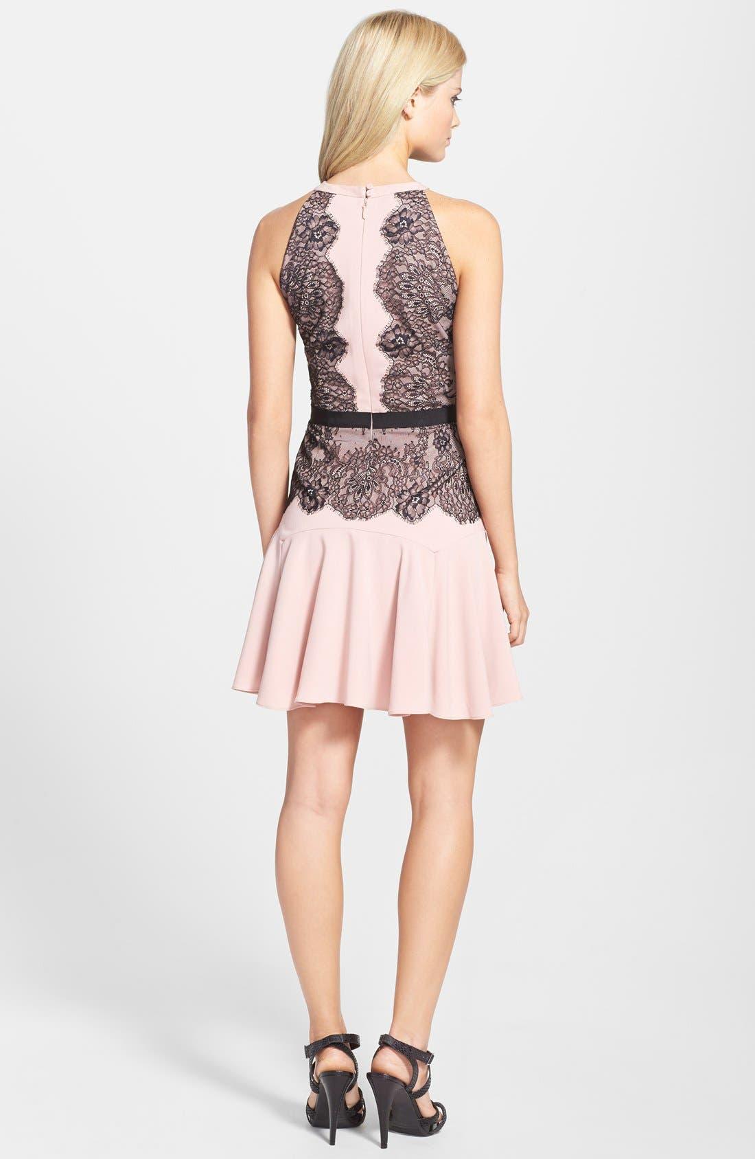 Alternate Image 2  - BCBGMAXAZRIA 'Leyla' Fit & Flare Halter Dress
