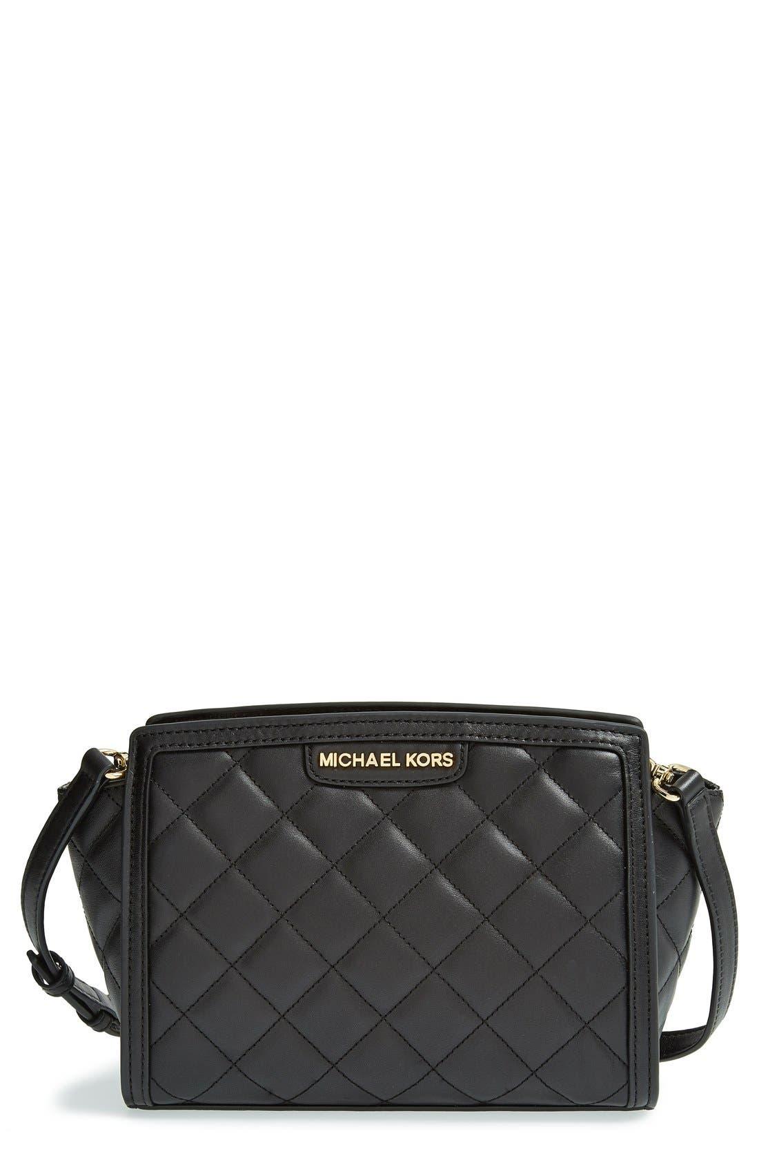 Alternate Image 1 Selected - MICHAEL Michael Kors 'Medium Selma' Quilted Leather Messenger Bag