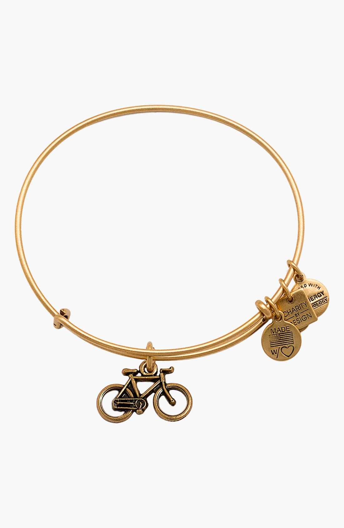 Alternate Image 1 Selected - Alex and Ani Bike Expandable Wire Bangle
