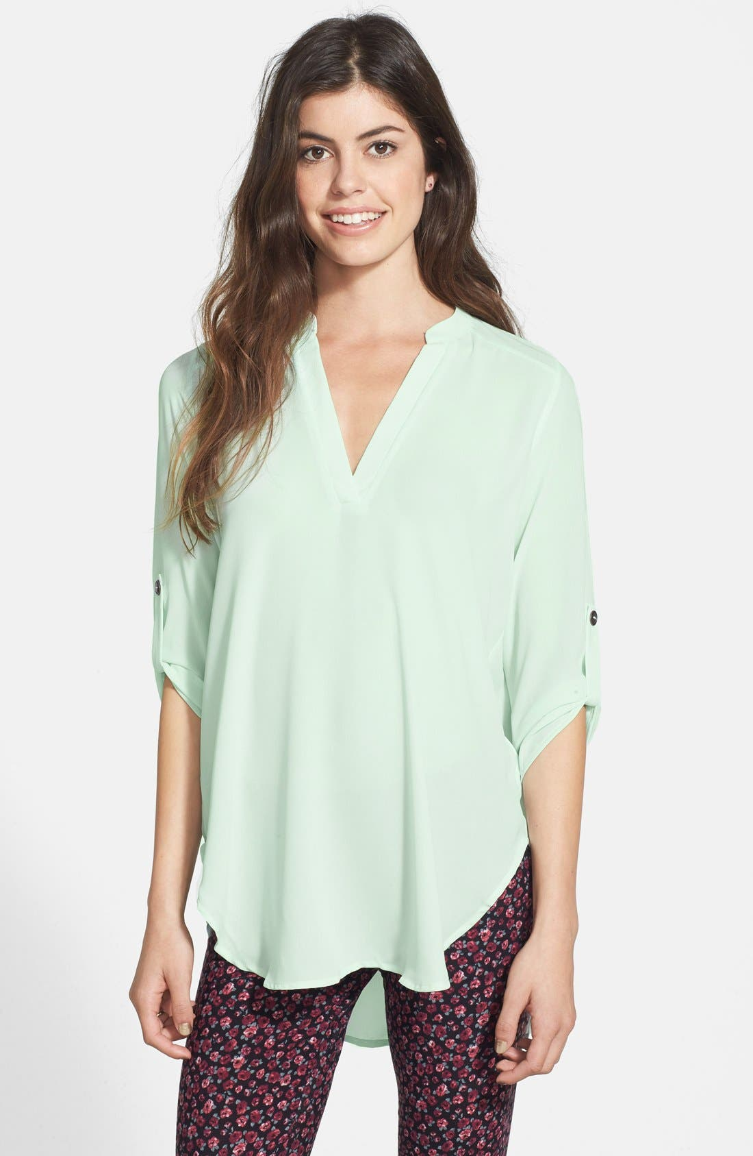 Alternate Image 1 Selected - Lush 'Perfect' Tunic Henley (Juniors)