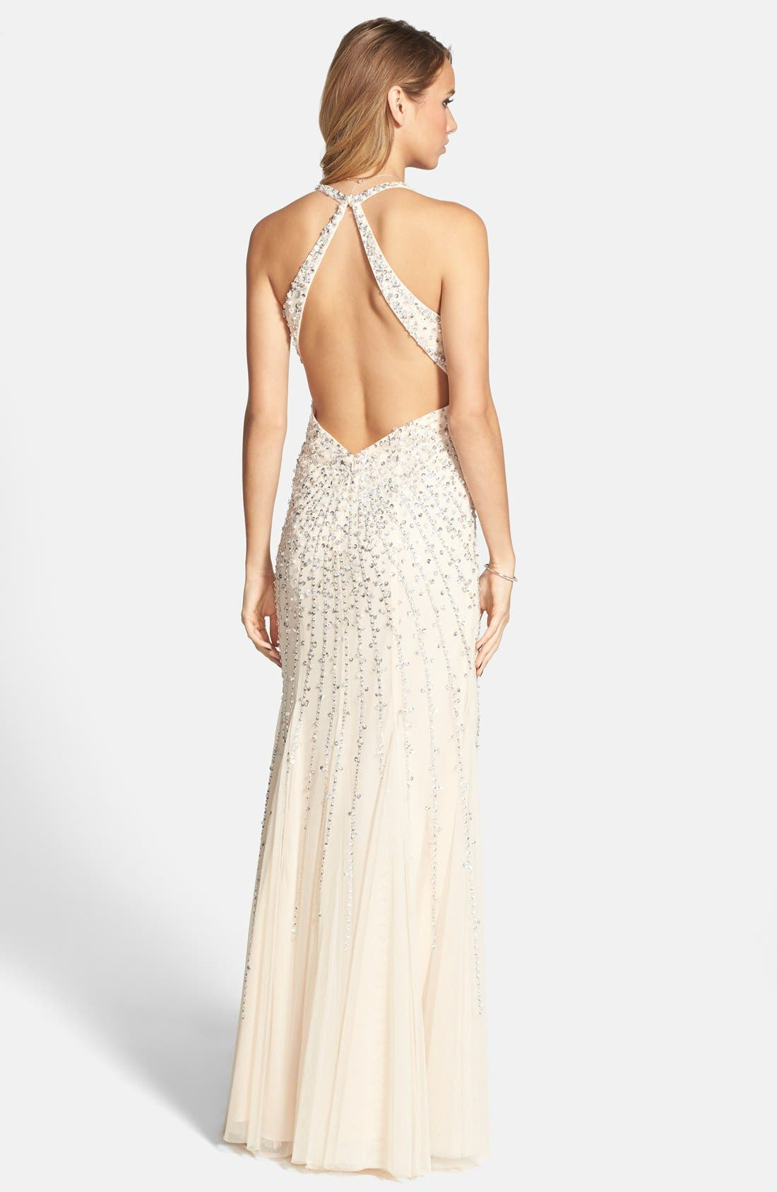 Alternate Image 2  - Sean Collection Sequin Sweetheart Mesh Gown (Online Exclusive)