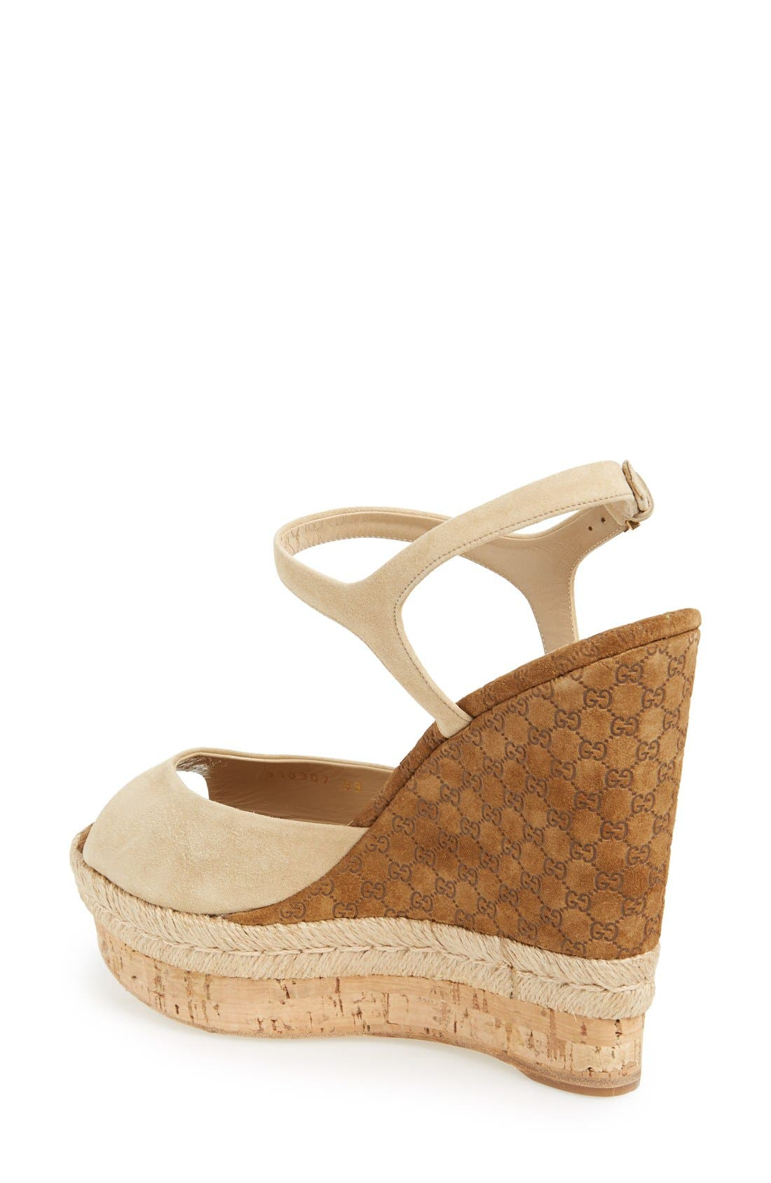 Alternate Image 2  - Gucci 'Hollie' Wedge Sandal (Women)