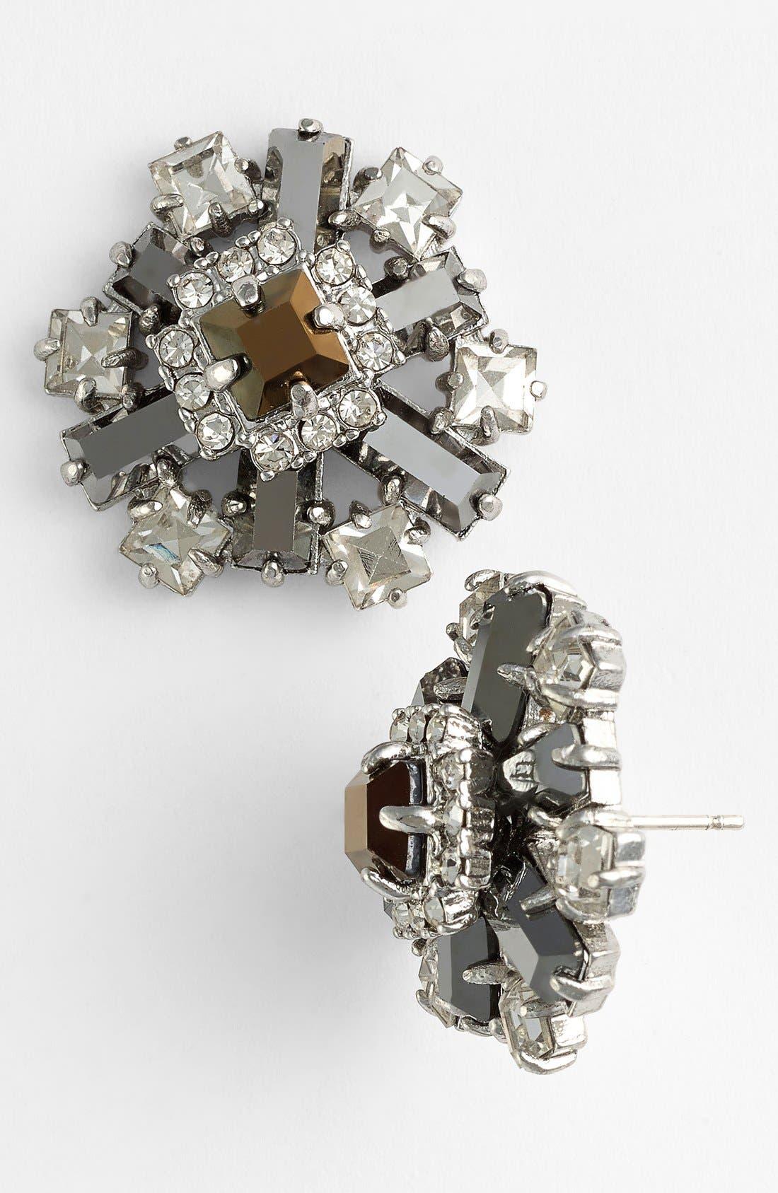 Alternate Image 1 Selected - kate spade new york 'space age floral' cluster stud earrings