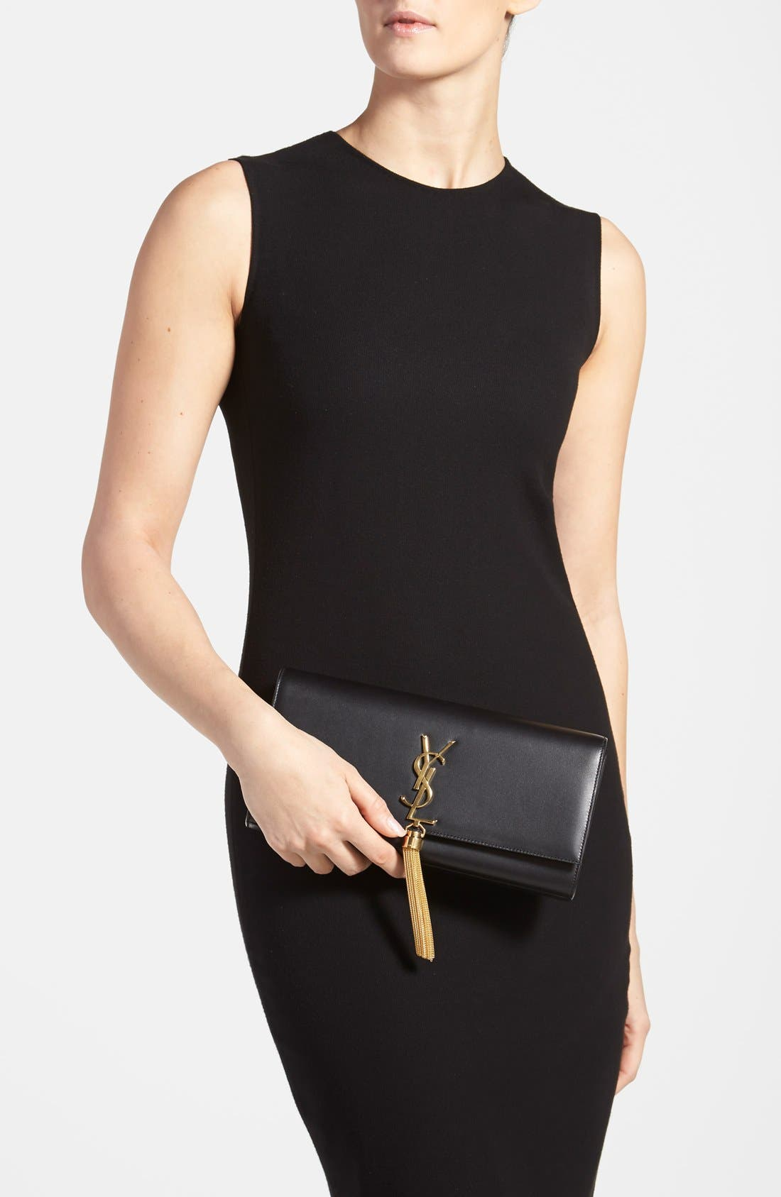 Alternate Image 2  - Saint Laurent 'Cassandre' Tassel Leather Clutch