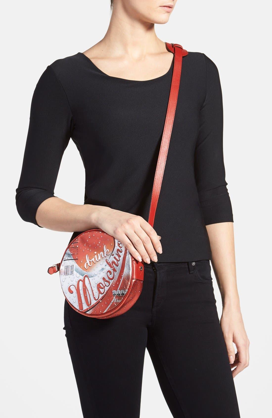 Alternate Image 2  - Moschino 'Drink Moschino' Laminated Leather Crossbody Bag