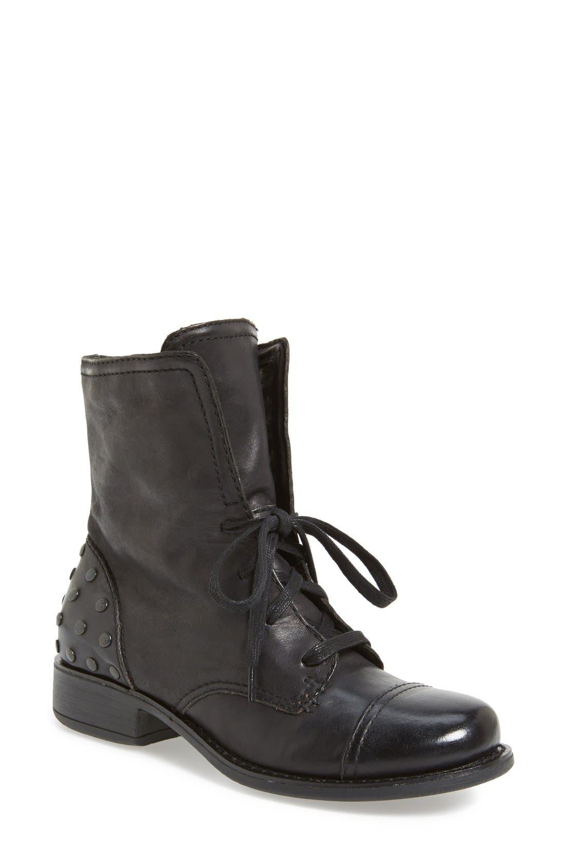 Main Image - OTBT 'Bridgeman' Cap Toe Leather Bootie (Women)
