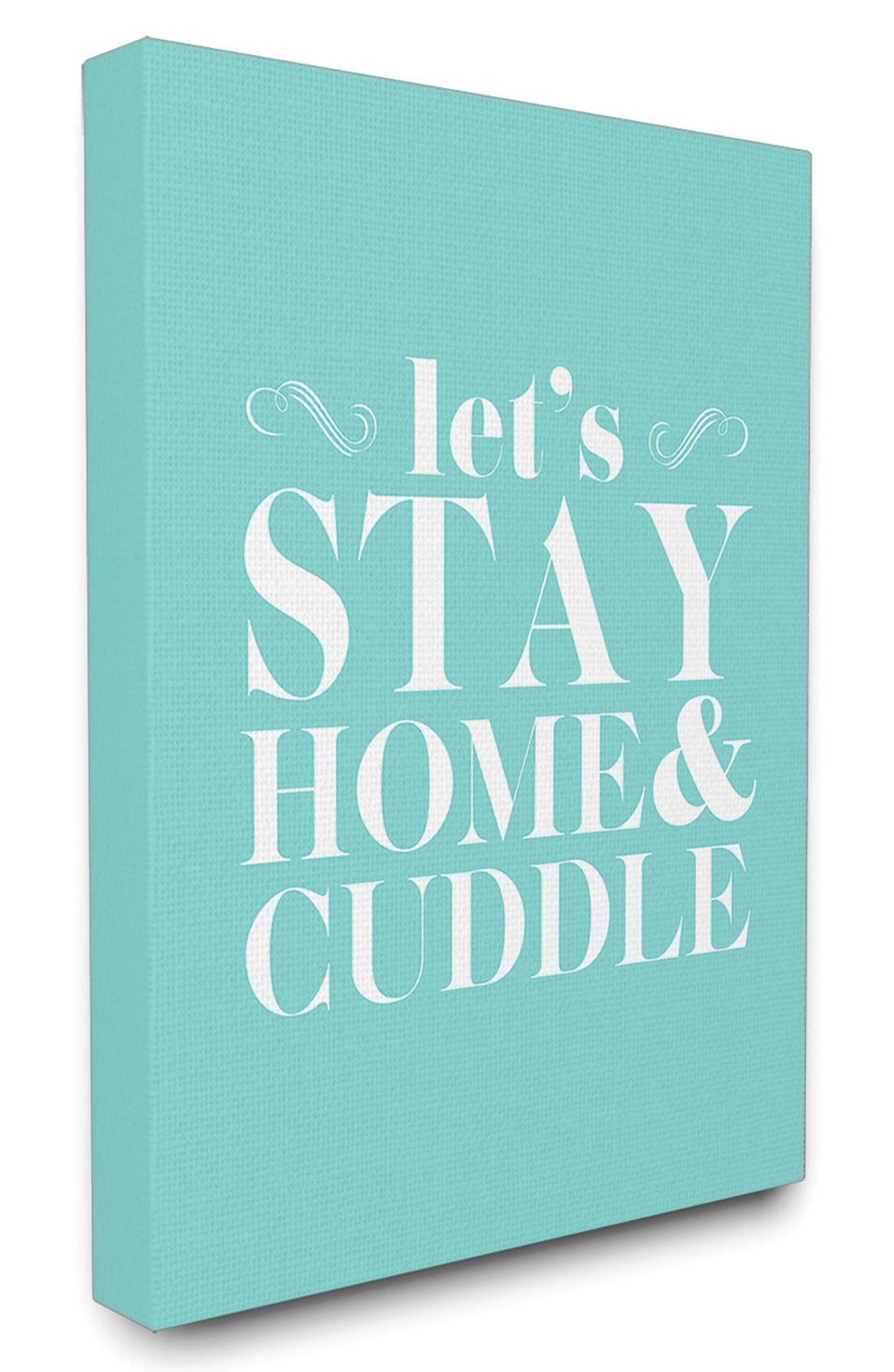 Alternate Image 1 Selected - LulusimonSTUDIO 'Let's Stay Home & Cuddle' Canvas Wall Art