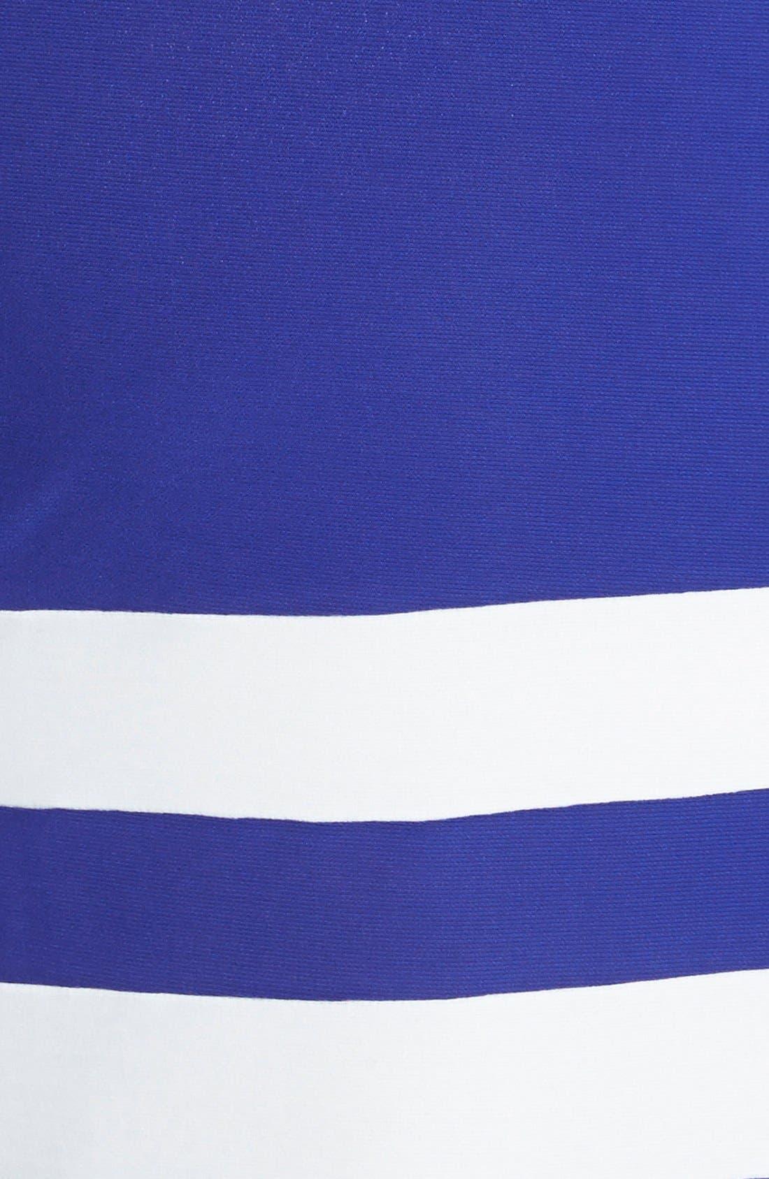 Alternate Image 3  - ABS by Allen Schwartz Stripe Hem T-Shirt Dress (Plus Size)