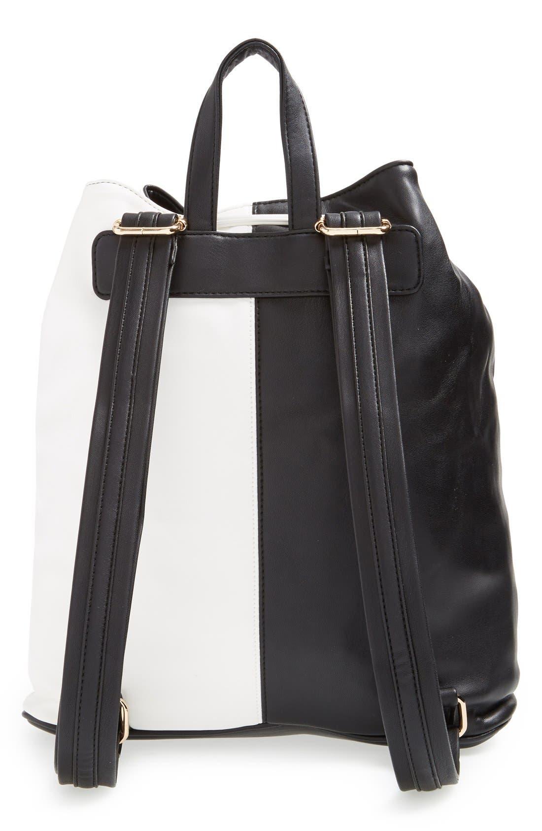 Alternate Image 4  - Deux Lux 'Mod' Colorblock Faux Leather Backpack