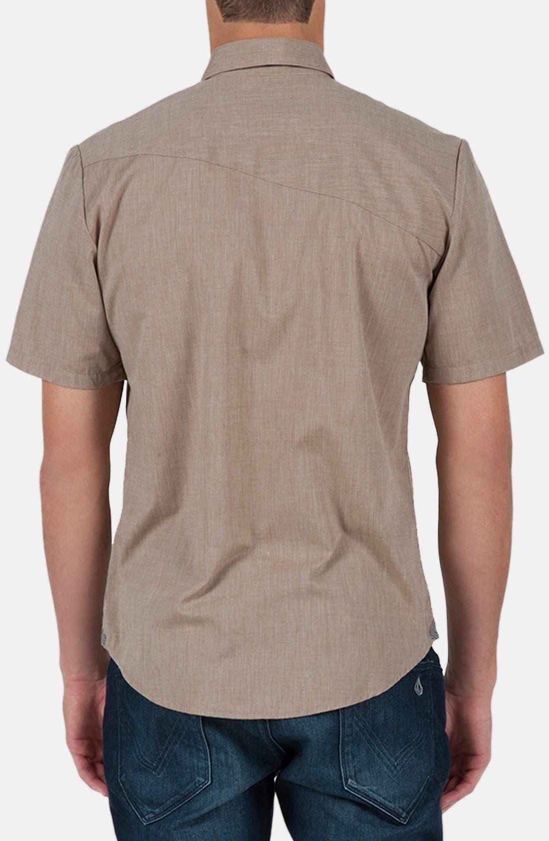 Alternate Image 2  - Volcom 'Weirdoh' Trim Fit Short Sleeve Woven Shirt