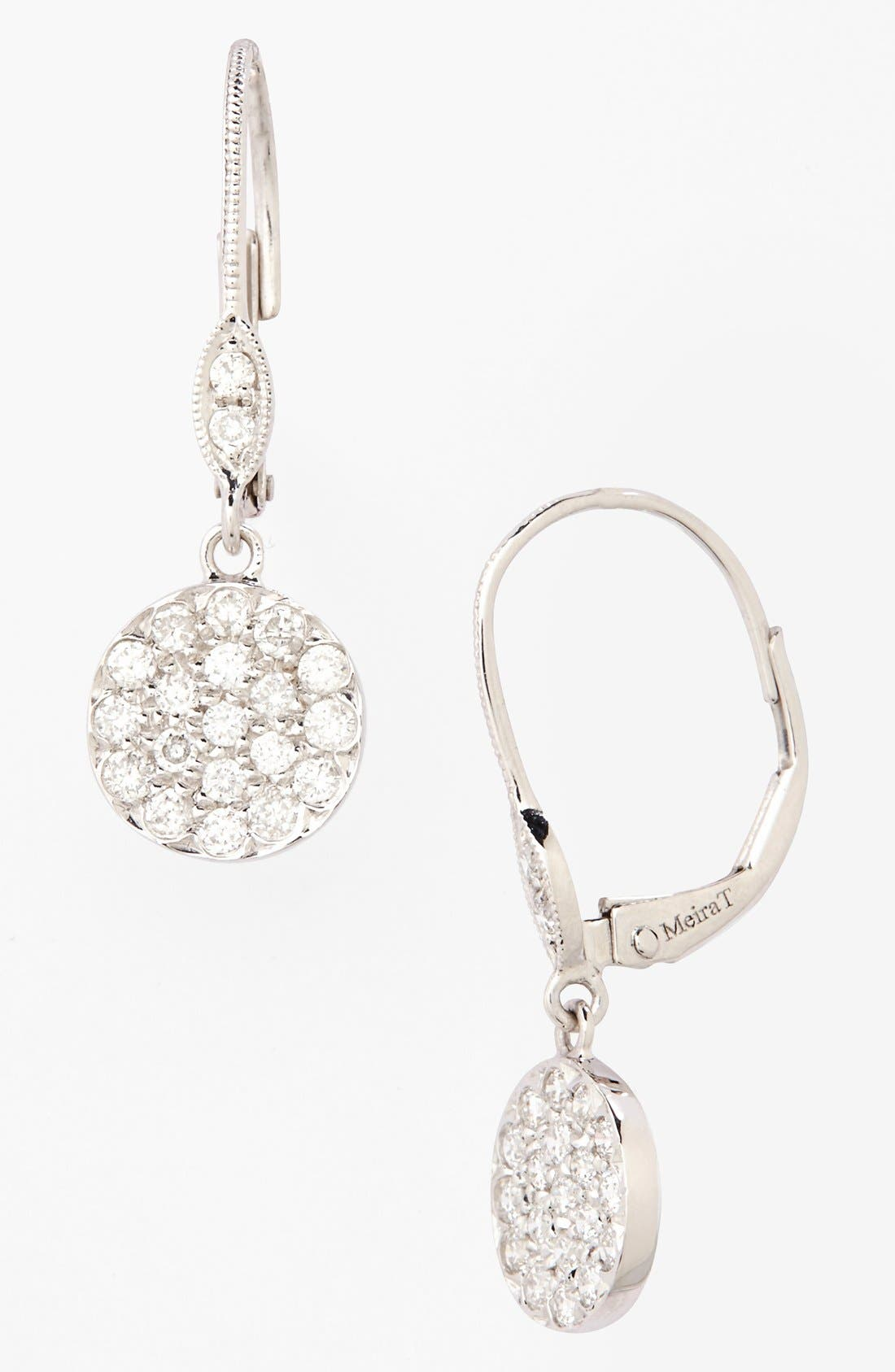 Alternate Image 1 Selected - MeiraT 'Dazzling' Diamond Disc Drop Earrings