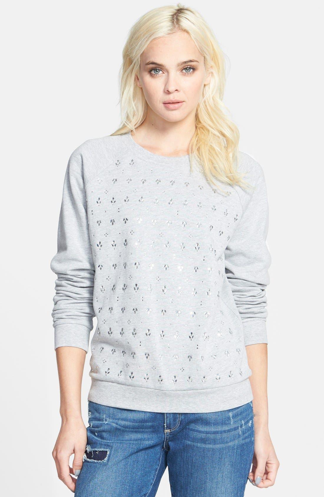 Alternate Image 1 Selected - Paige Denim 'Pauline' Embellished Sweatshirt