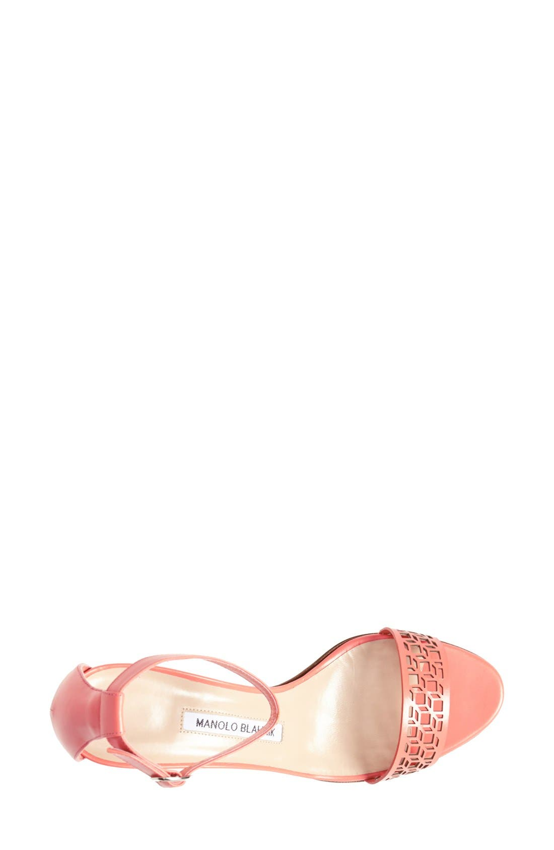 Alternate Image 3  - Manolo Blahnik 'Maurila' Leather Ankle Strap Sandal (Women)