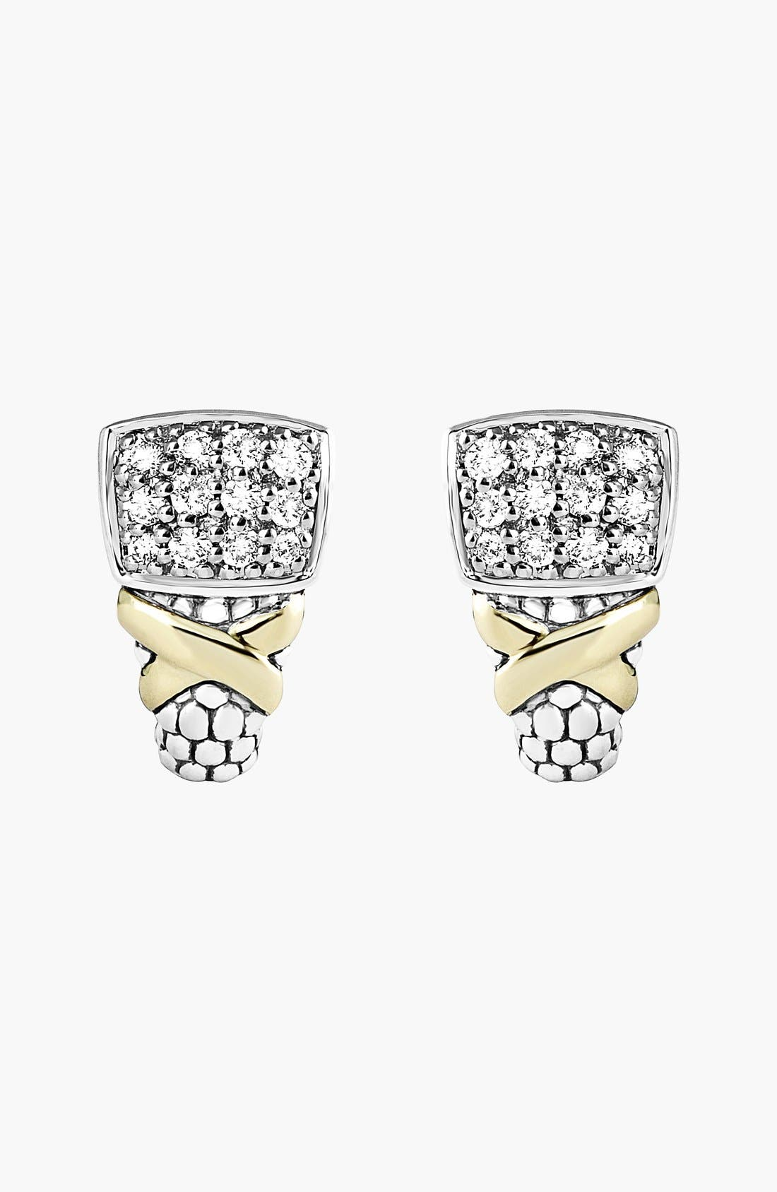 Alternate Image 2  - LAGOS 'Diamond Lux' Diamond Stud Earrings