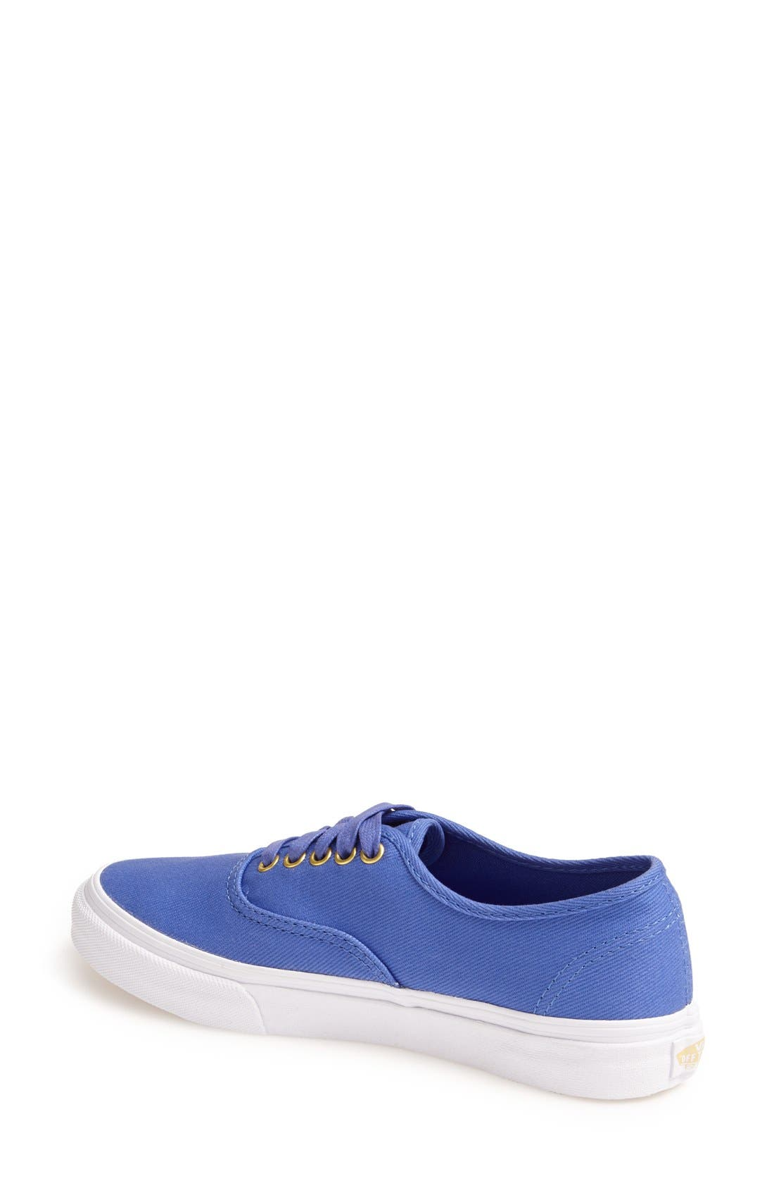 Alternate Image 2  - Vans 'Authentic Slim' Twill Sneaker (Women)