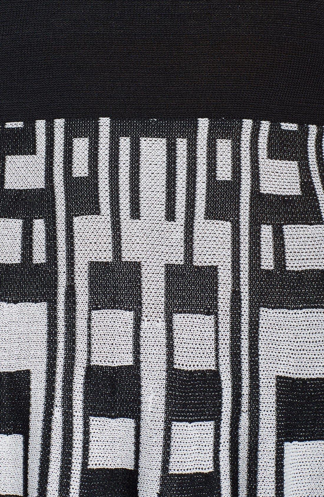 Alternate Image 4  - Plenty by Tracy Reese 'Amber' Print Skirt Fit & Flare Sweater Dress (Regular & Petite)