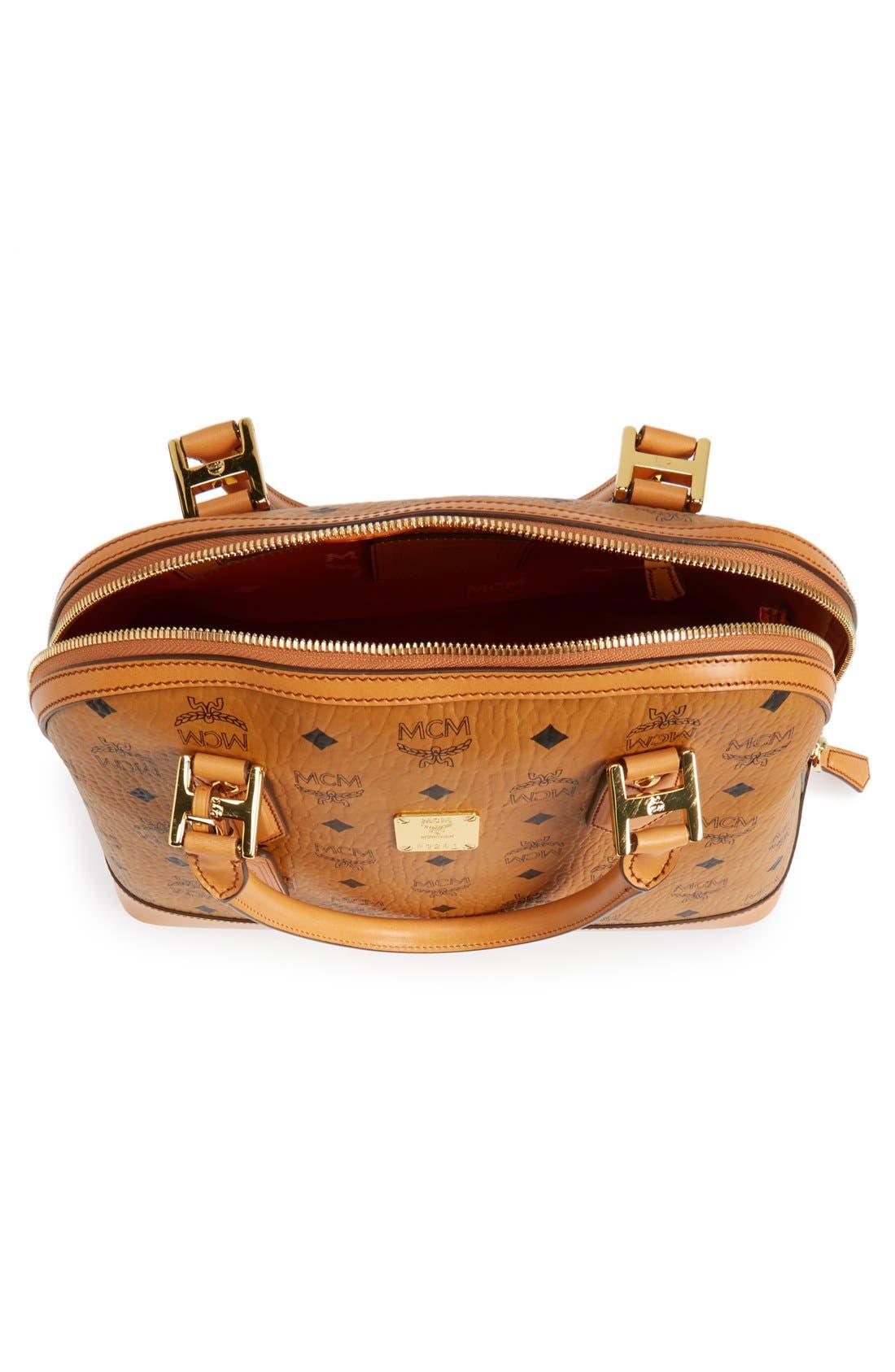 Alternate Image 3  - MCM 'Medium Heritage' Coated Canvas Bowler Bag