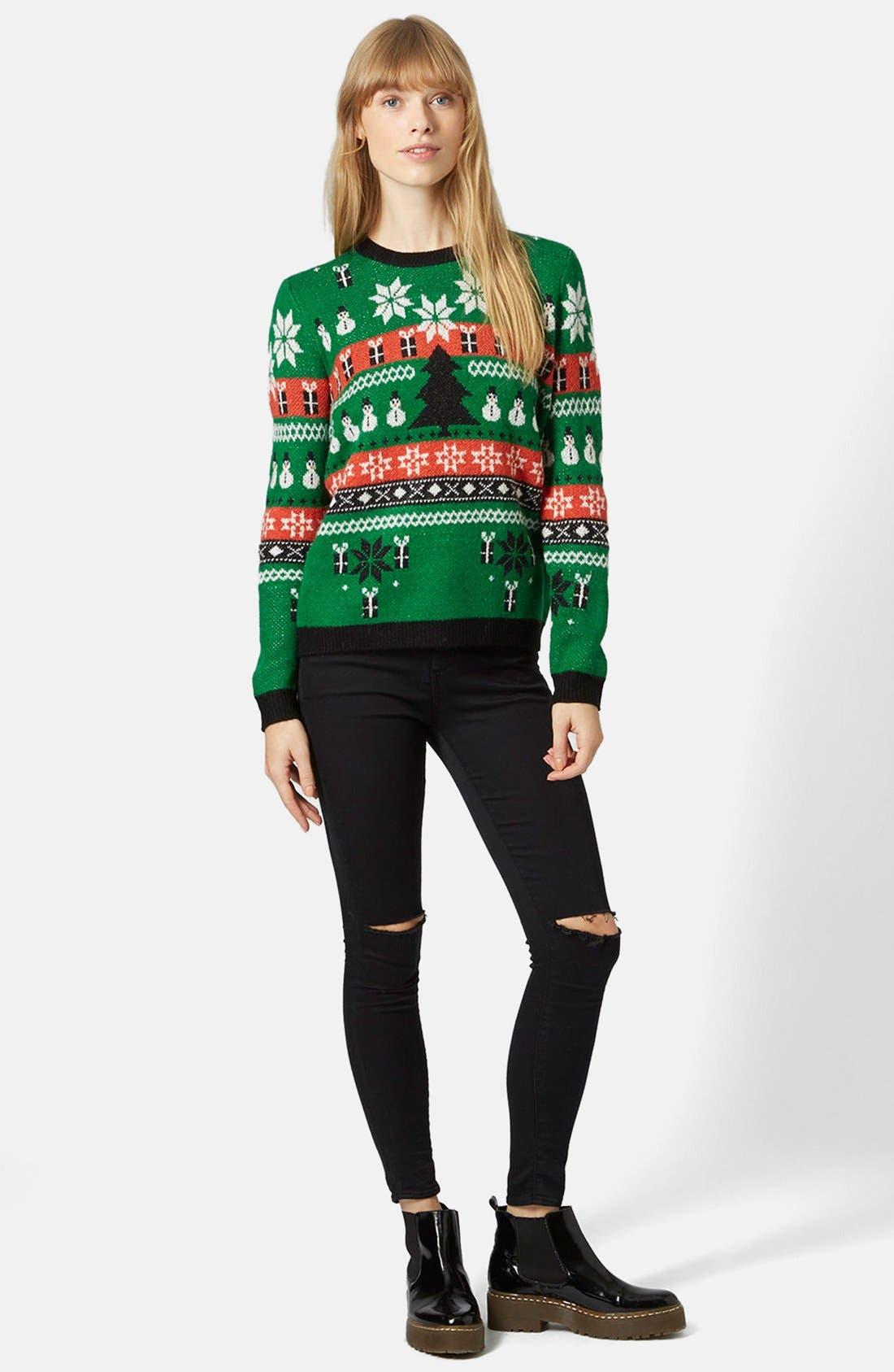 Alternate Image 5  - Topshop Holiday Fair Isle Sweater