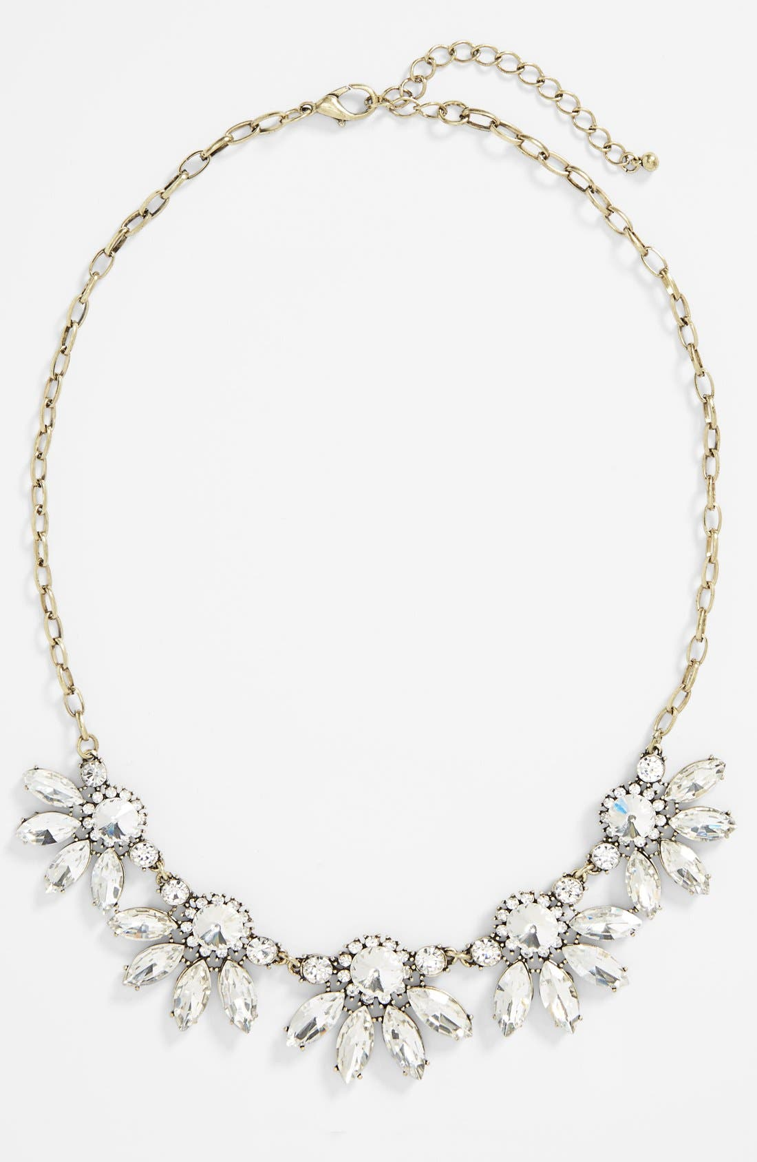 Alternate Image 2  - BP. Crystal Fan Statement Necklace (Juniors)