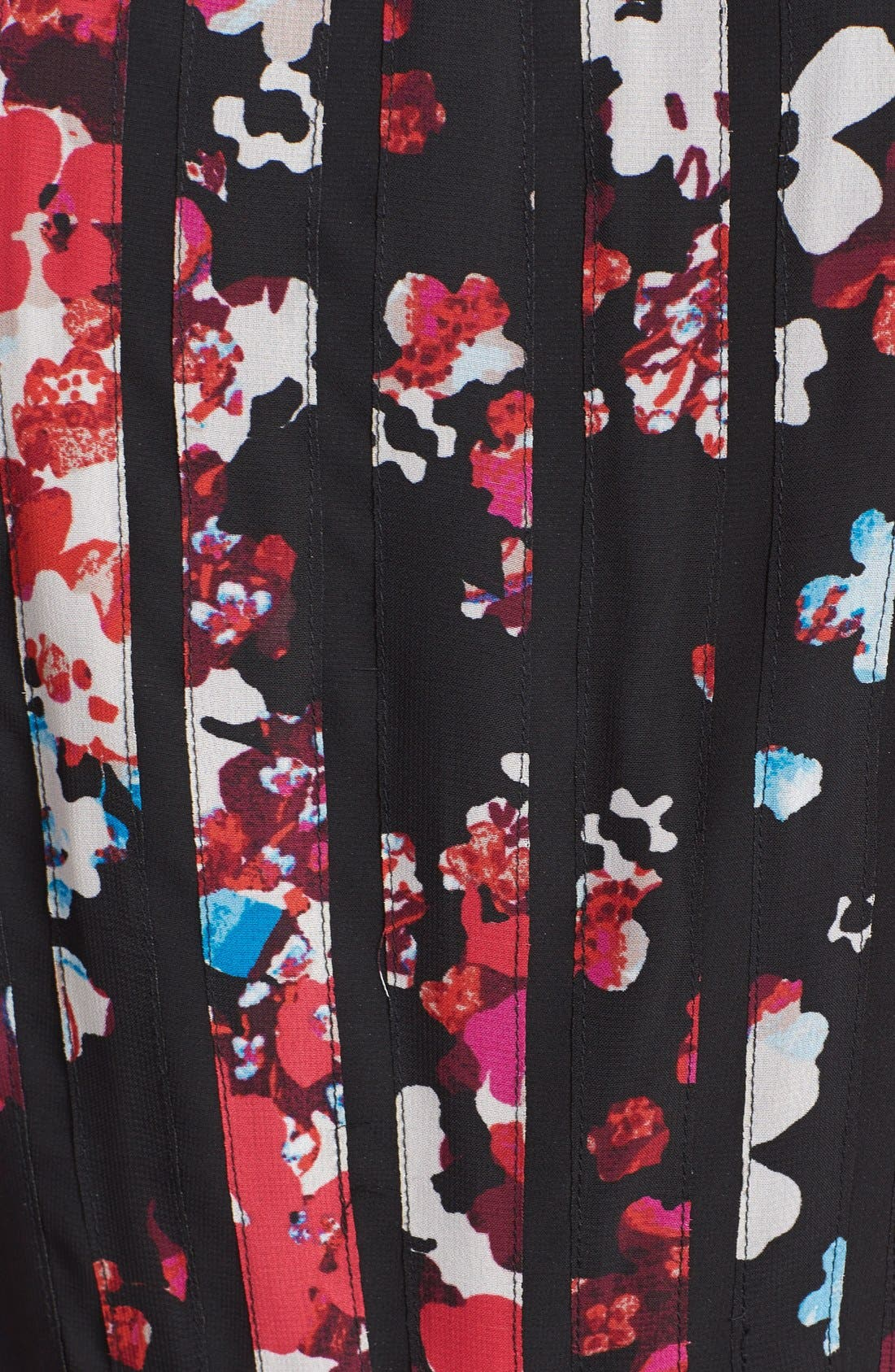 Alternate Image 4  - Adrianna Papell Floral Print Chiffon Fit & Flare Dress