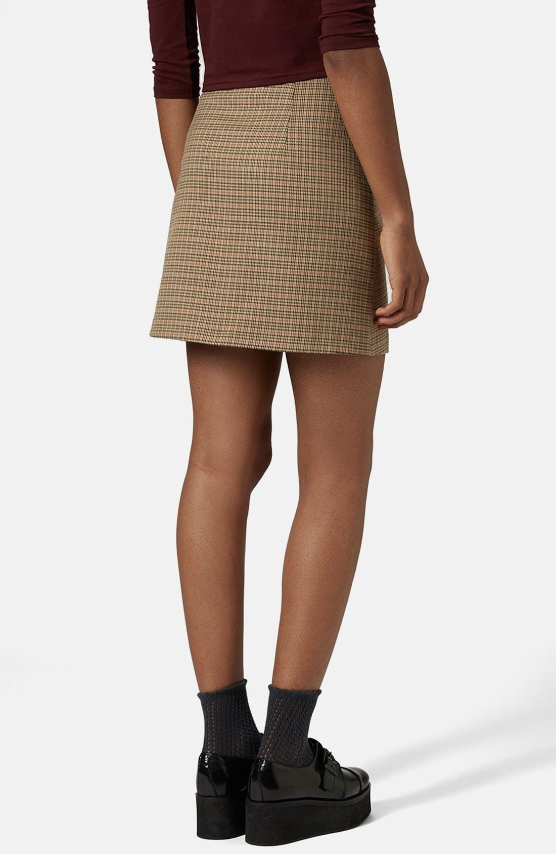 Alternate Image 2  - Topshop 'Tessa' Houndstooth A-Line Miniskirt