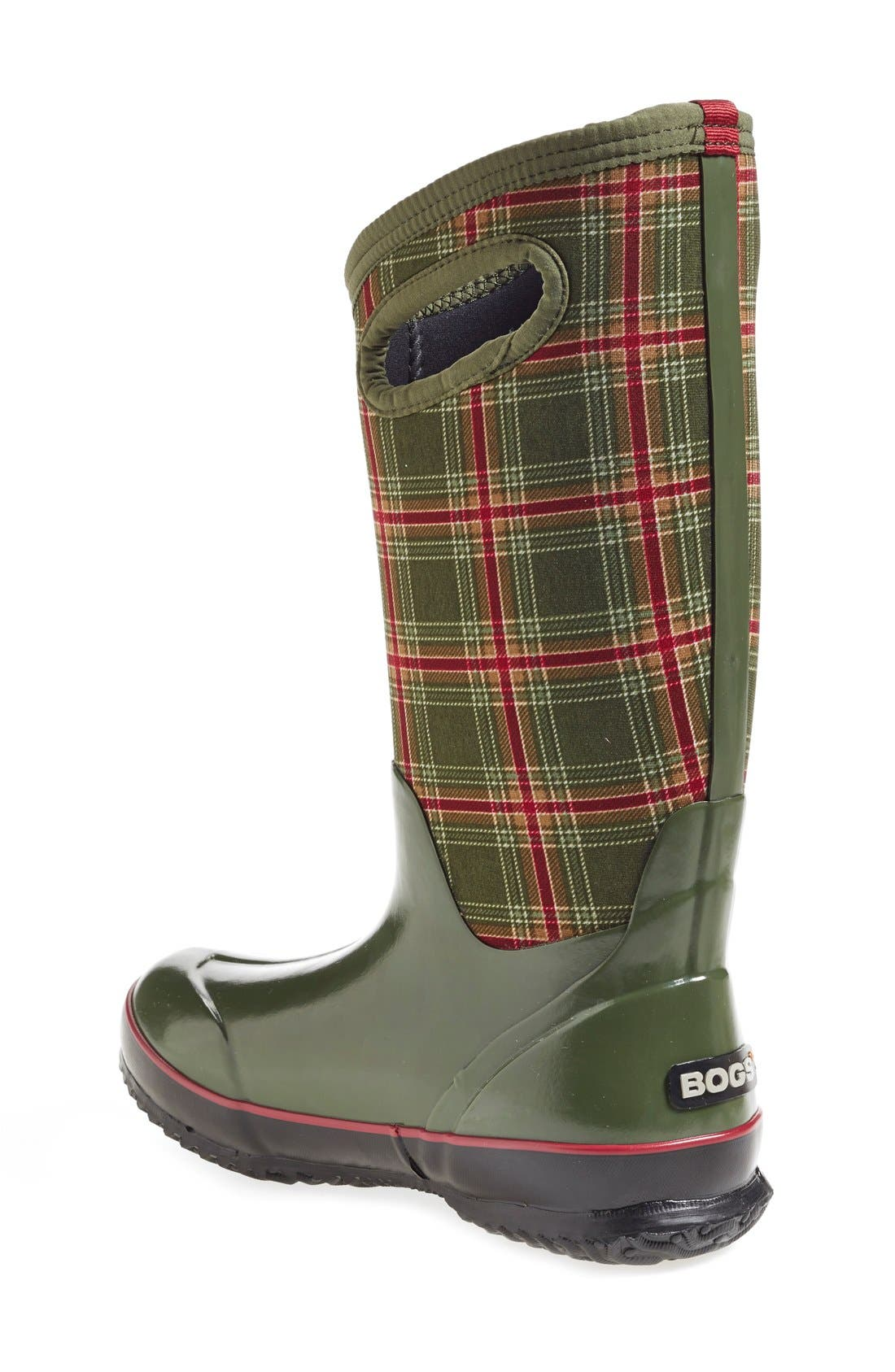 Alternate Image 2  - Bogs 'Classic Winter Plaid' Tall Waterproof Snow Boot with Cutout Handles (Women)
