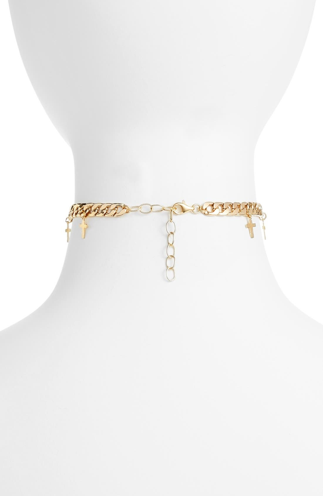 Alternate Image 2  - Frasier Sterling Topanga Cross Charm Choker