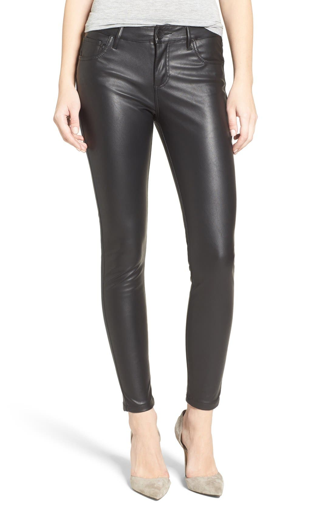 Alternate Image 1 Selected - KUT from the Kloth Brigitte Faux Leather Pants