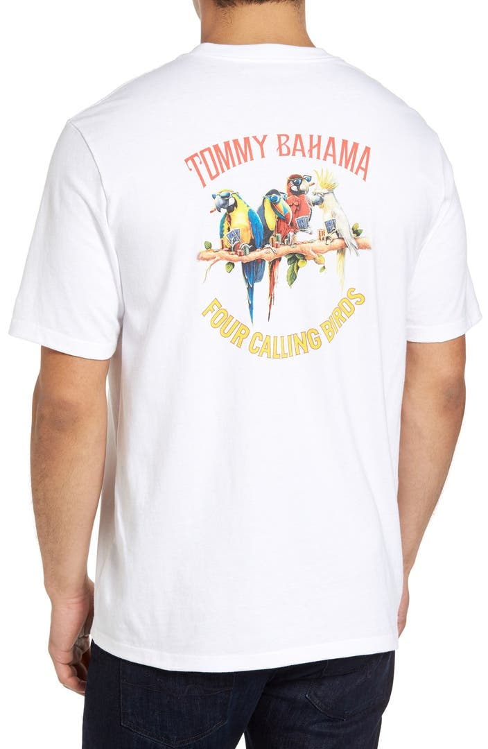 Tommy bahama four calling birds t shirt big tall for Do tommy bahama shirts run big