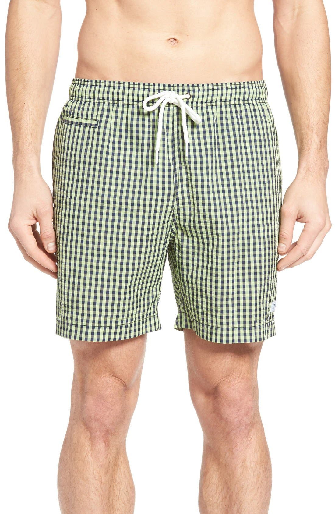 Trunks Surf & Swim Co. 'San O' Gingham Swim Trunks