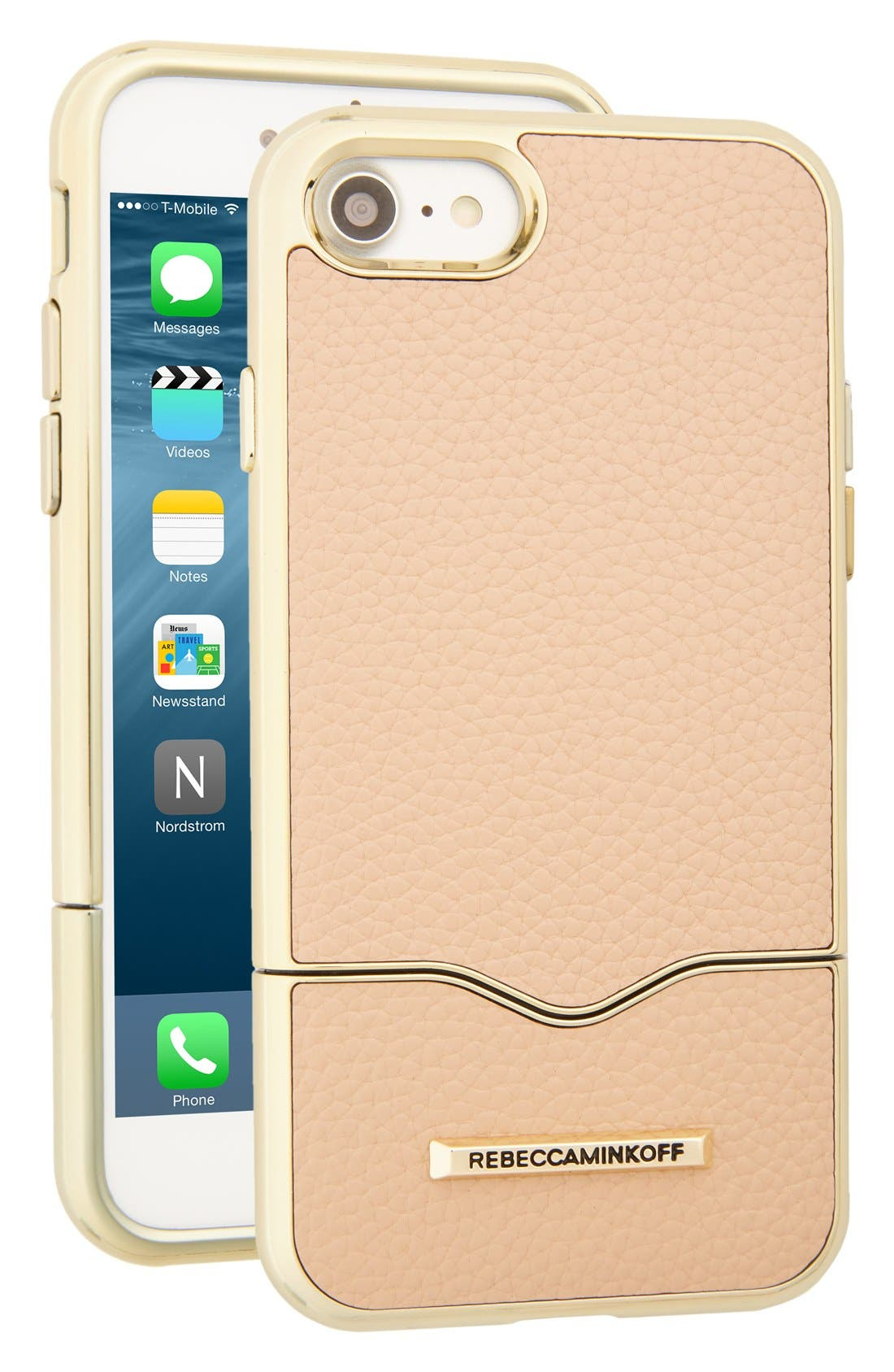Rebecca Minkoff Leather iPhone 7 Slider Case