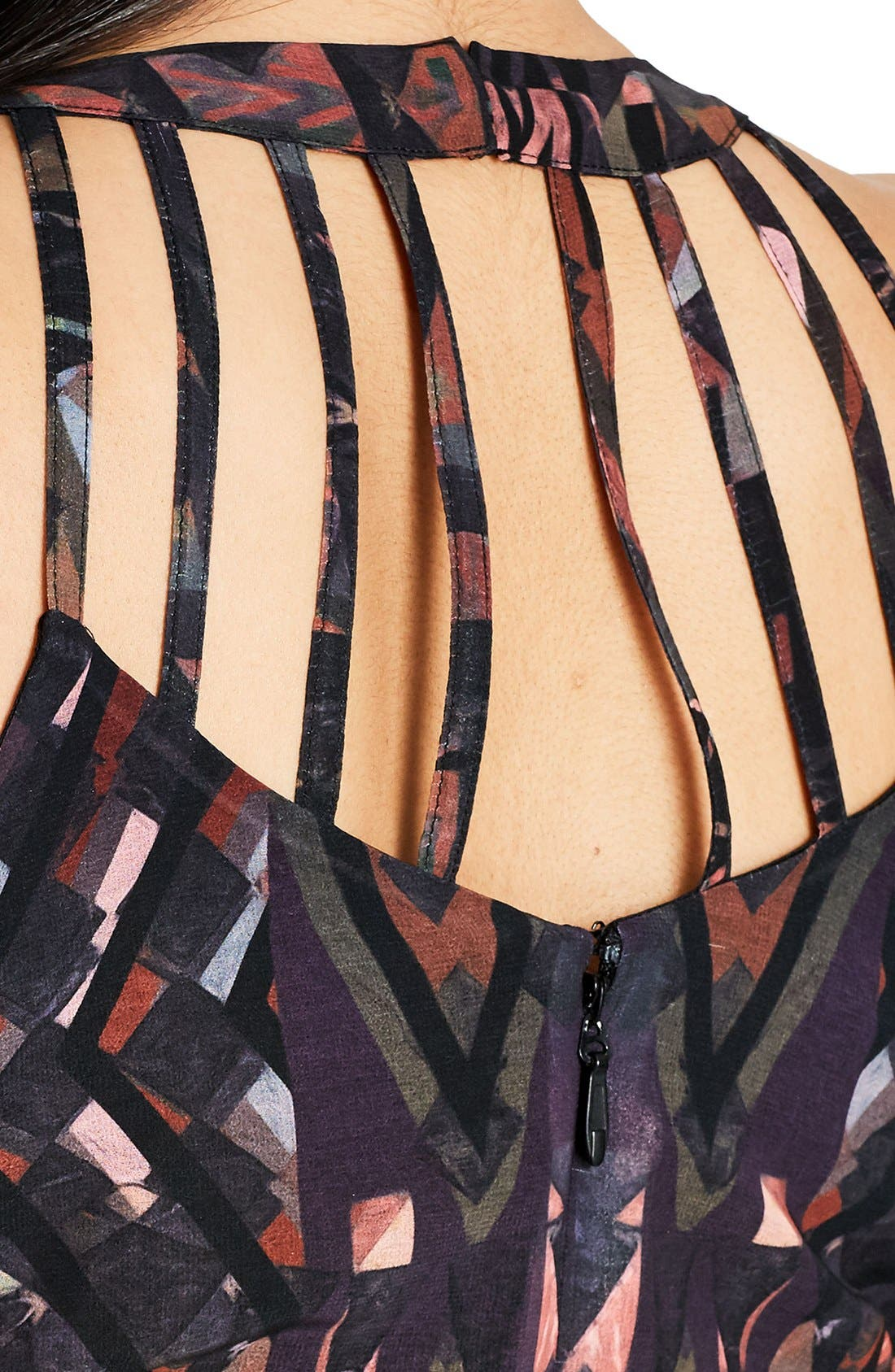 Alternate Image 4  - City Chic So Abstract Cutout Bodice Maxi Dress (Plus Size)