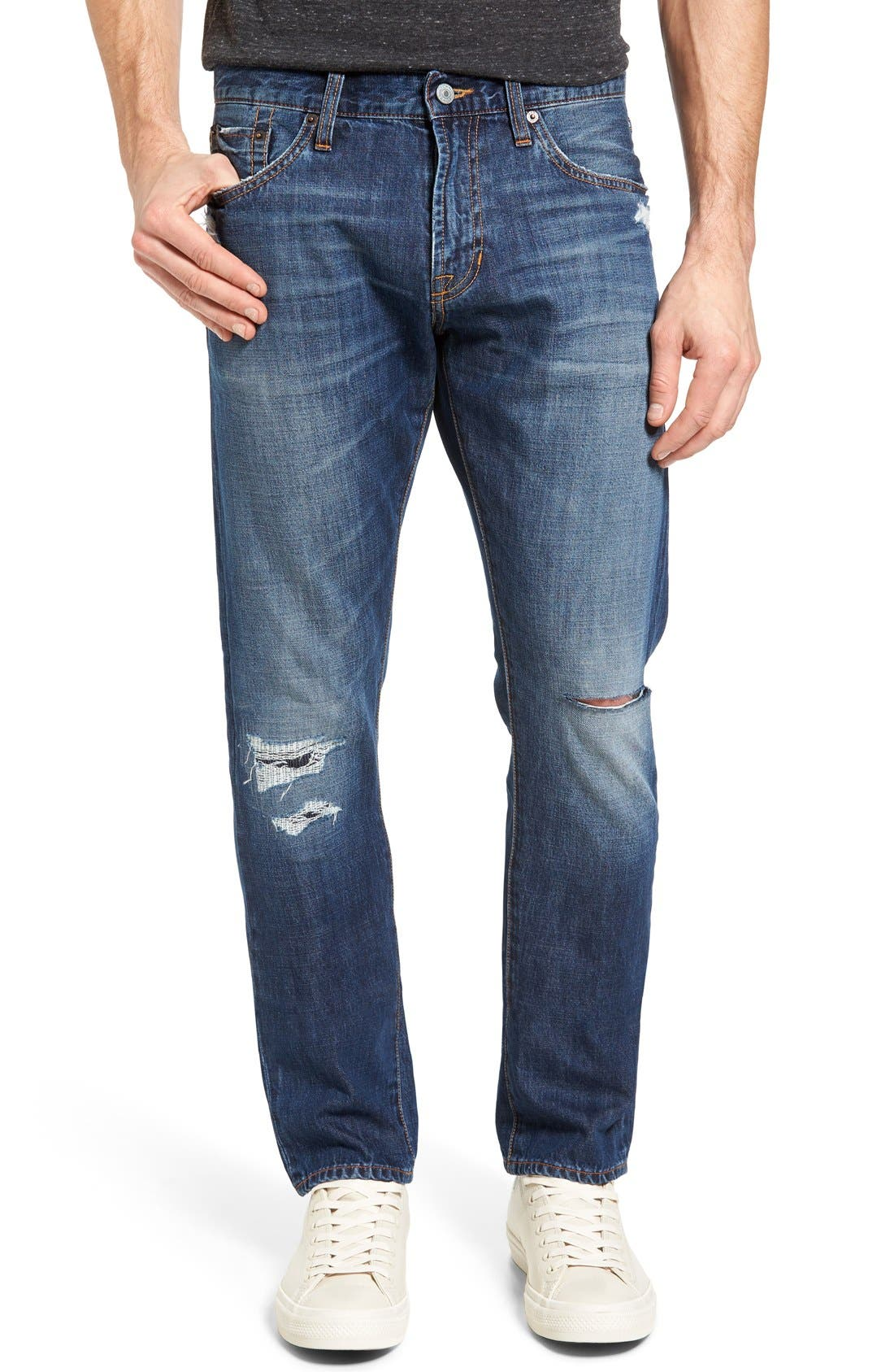 Jean Shop Slim Straight Leg Selvedge Jeans (Mid Authentic)