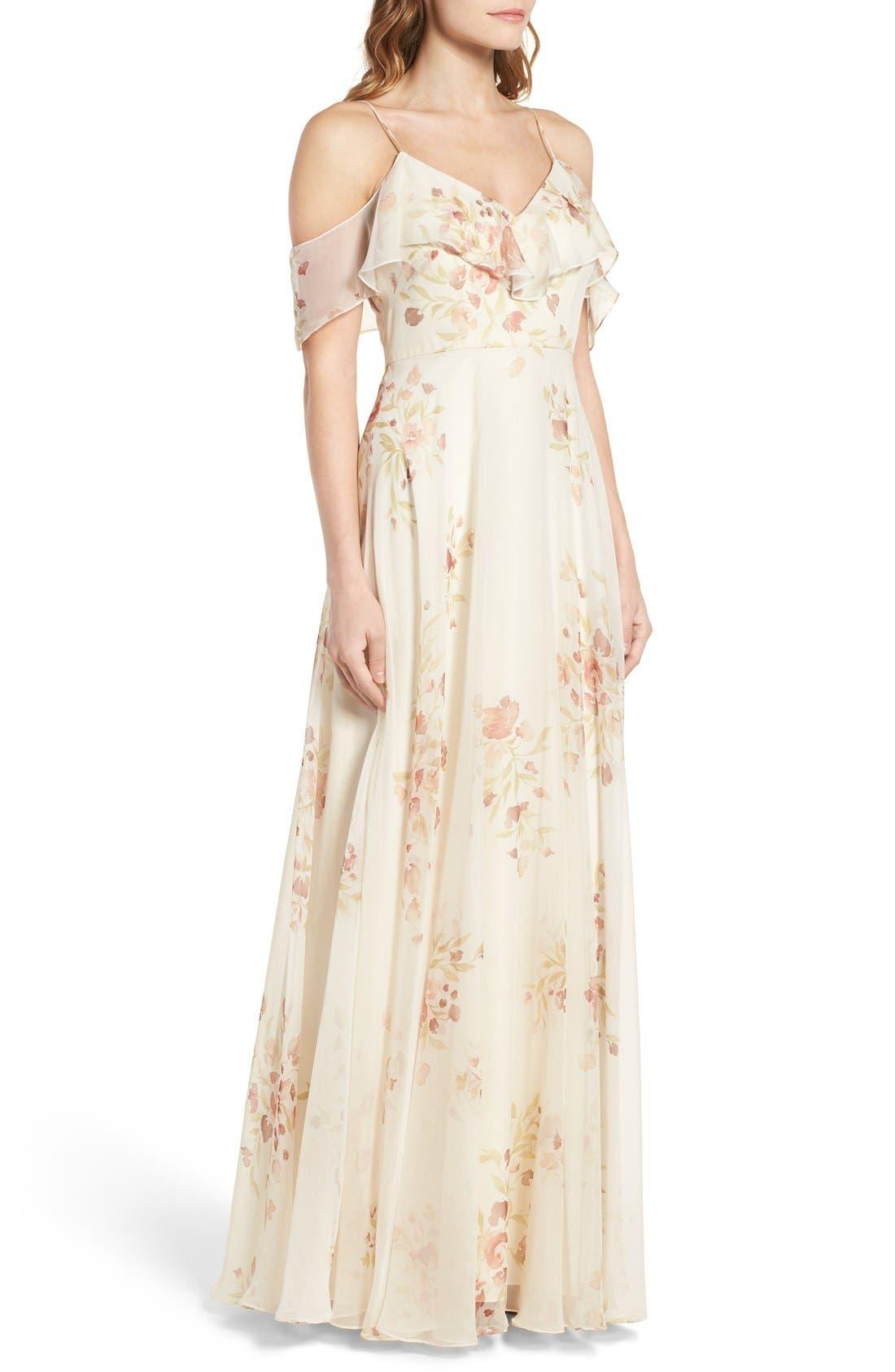 Alternate Image 3  - Jenny Yoo Mila Off the Shoulder Gown