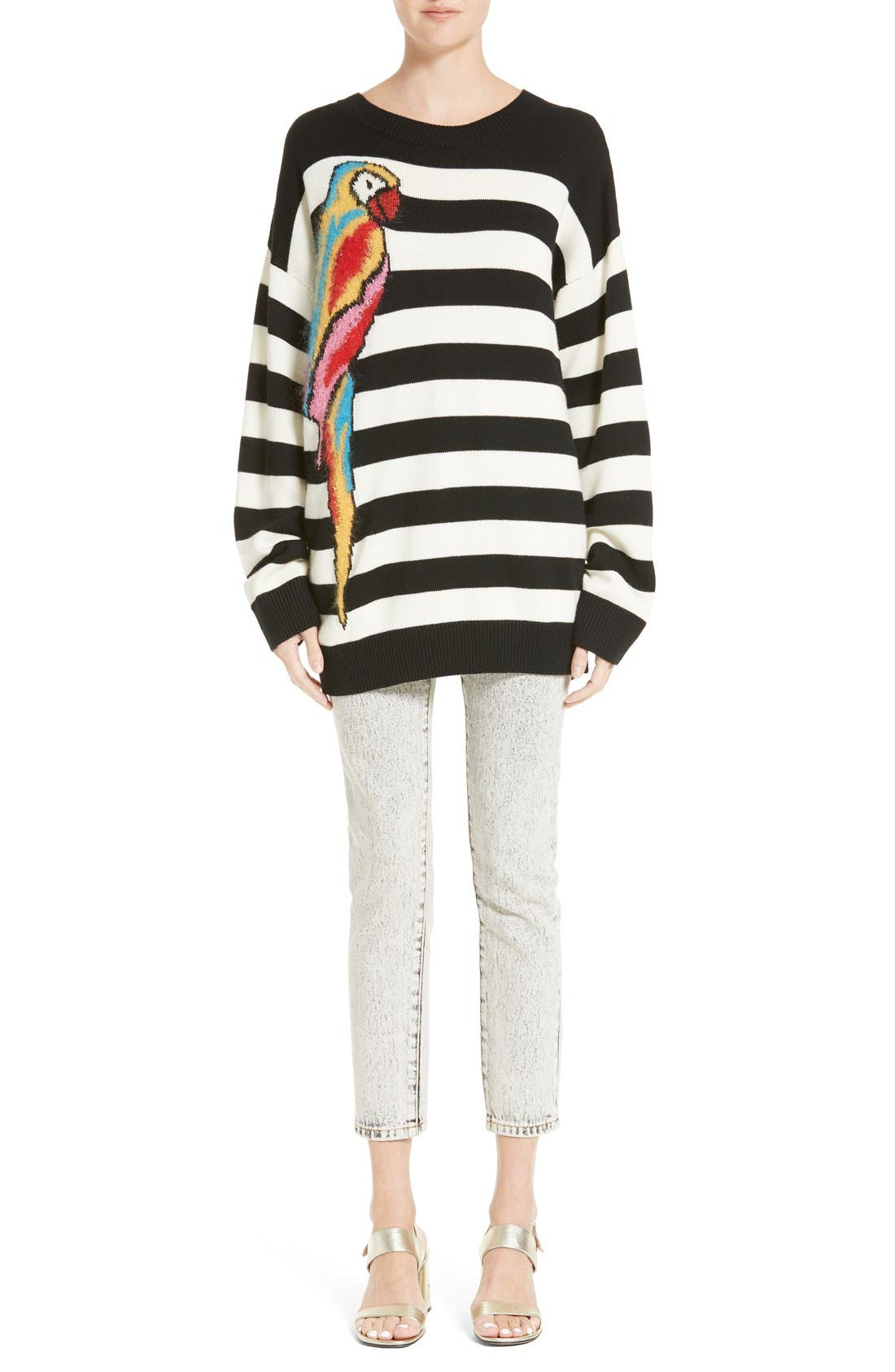 Alternate Image 7  - MARC JACOBS Parrot Jacquard Sweater