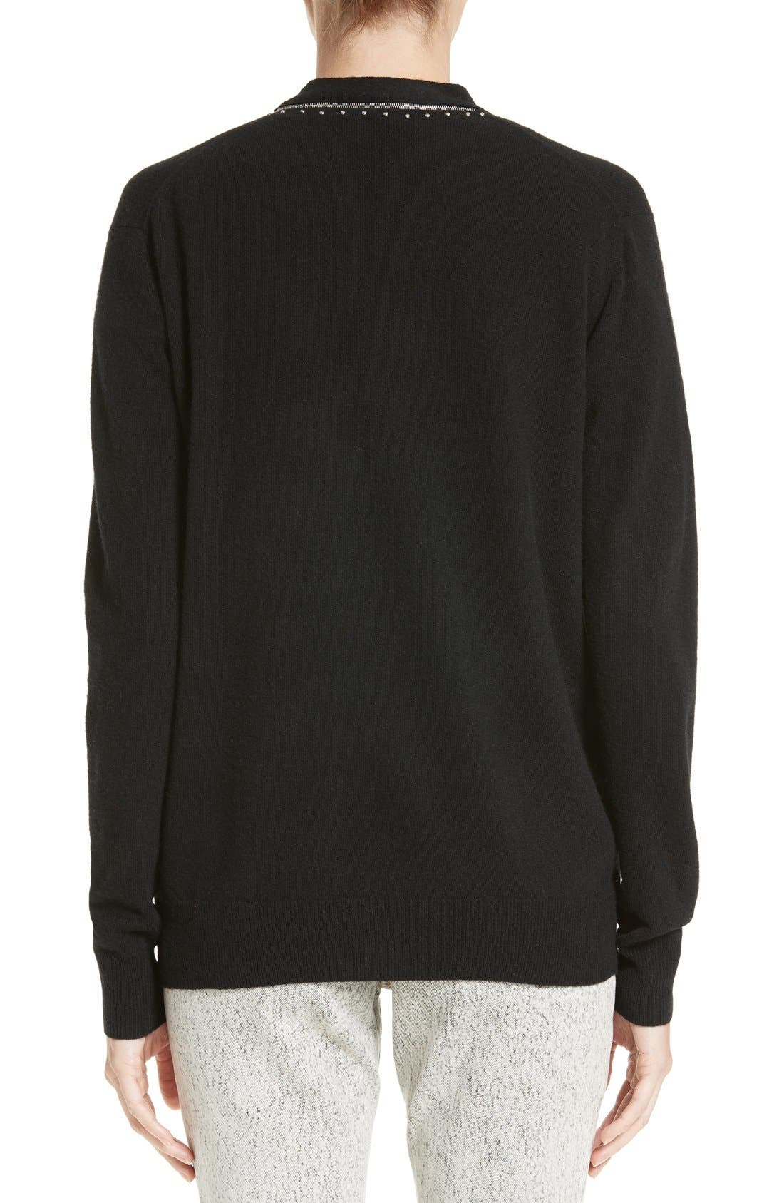 Alternate Image 2  - MARC JACOBS Zip Detail Wool Cardigan