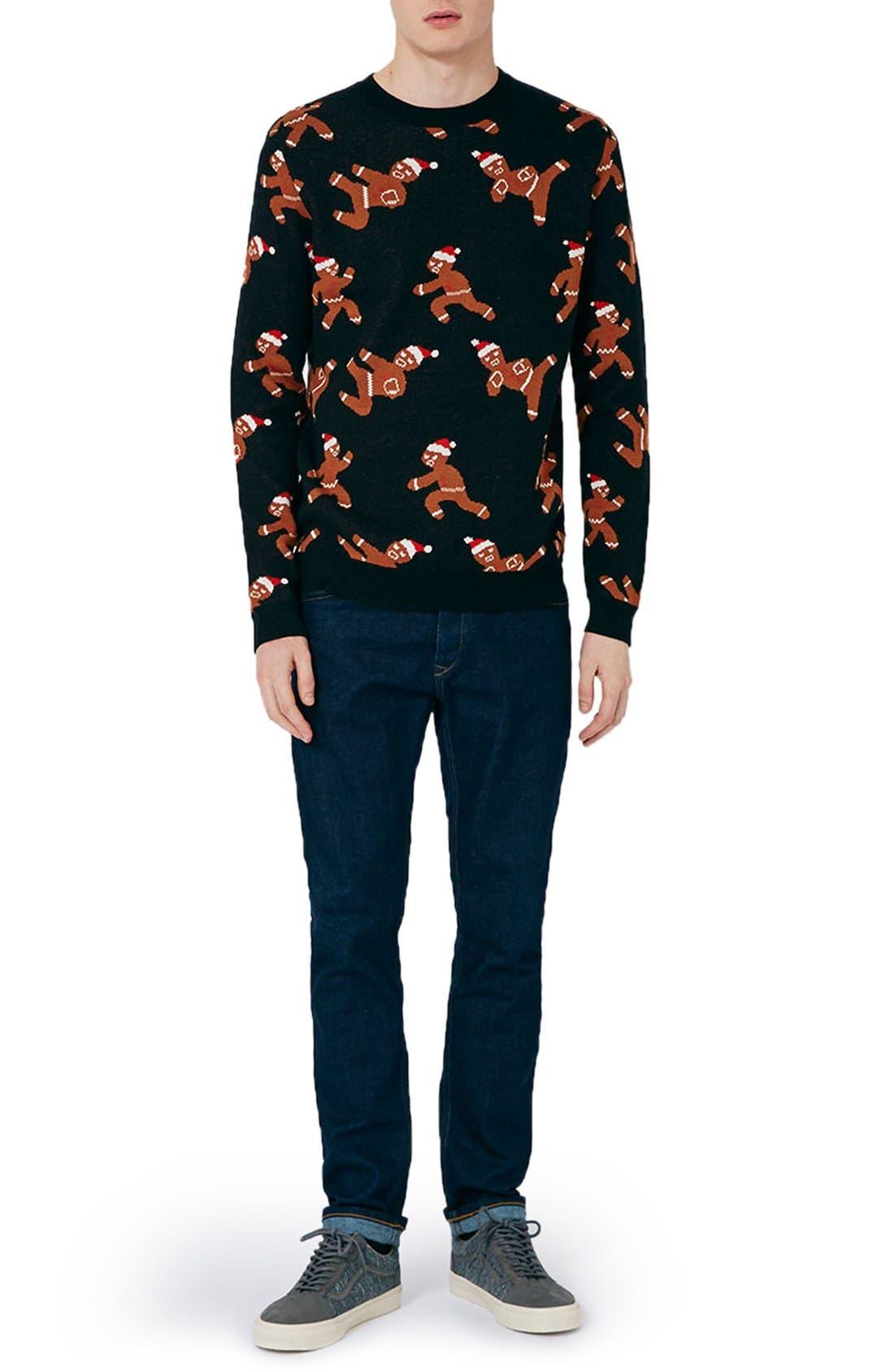 Alternate Image 2  - Topman Ninja Gingerbread Men Sweater