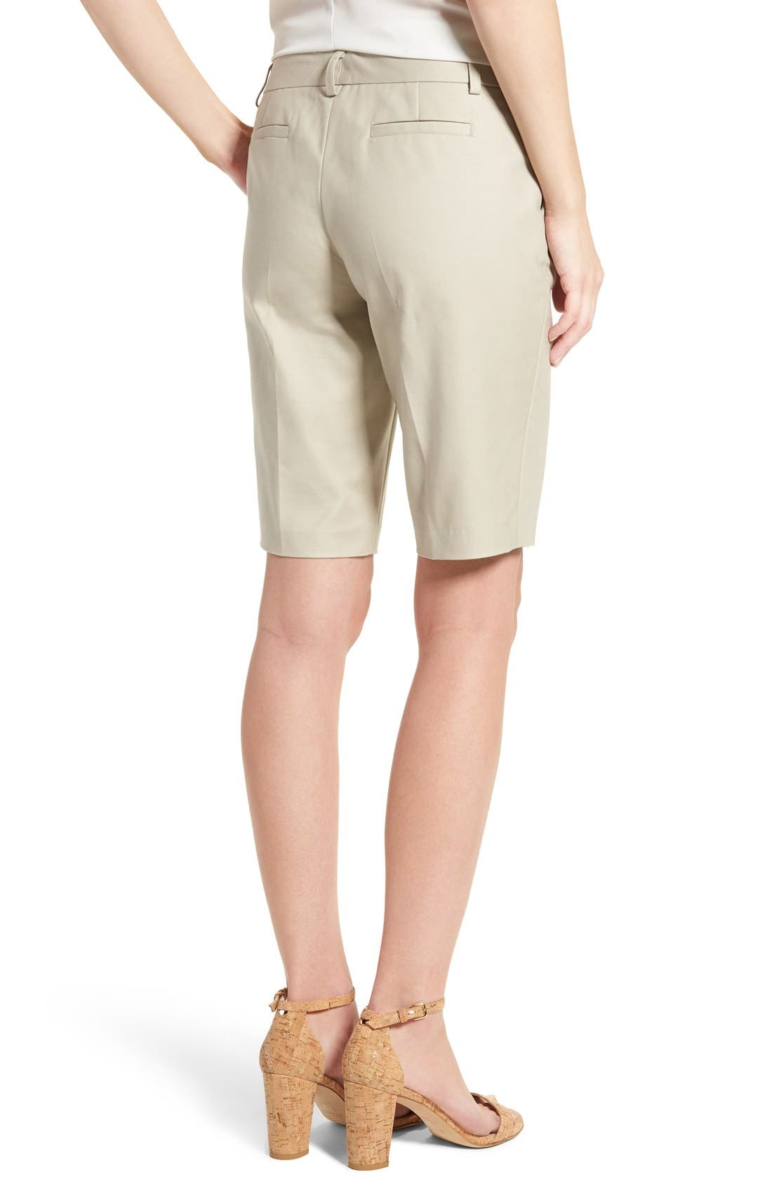 Alternate Image 3  - Halogen® Stretch Bermuda Shorts (Regular & Petite)