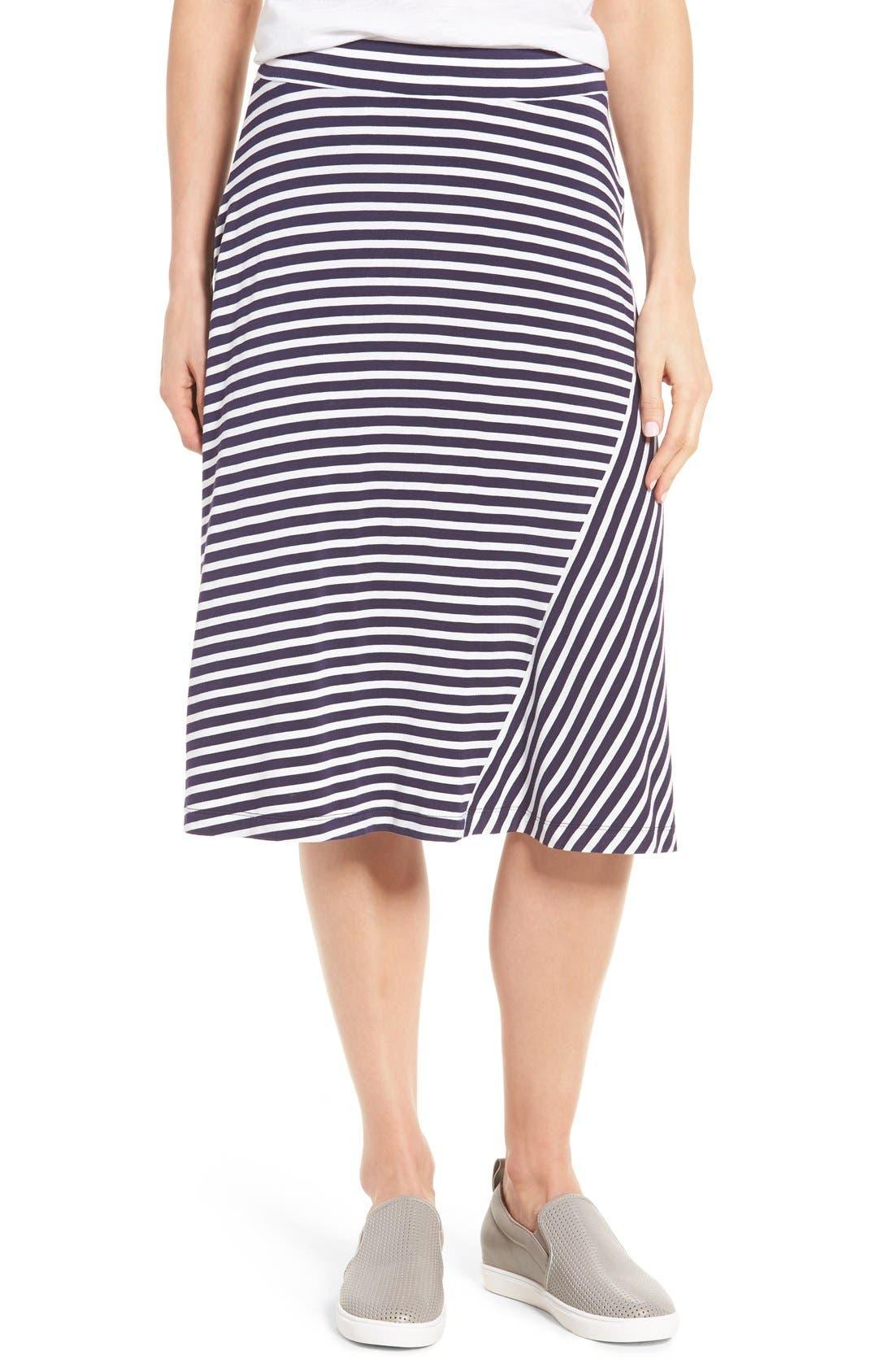 CASLON® A-Line Knit Midi Skirt