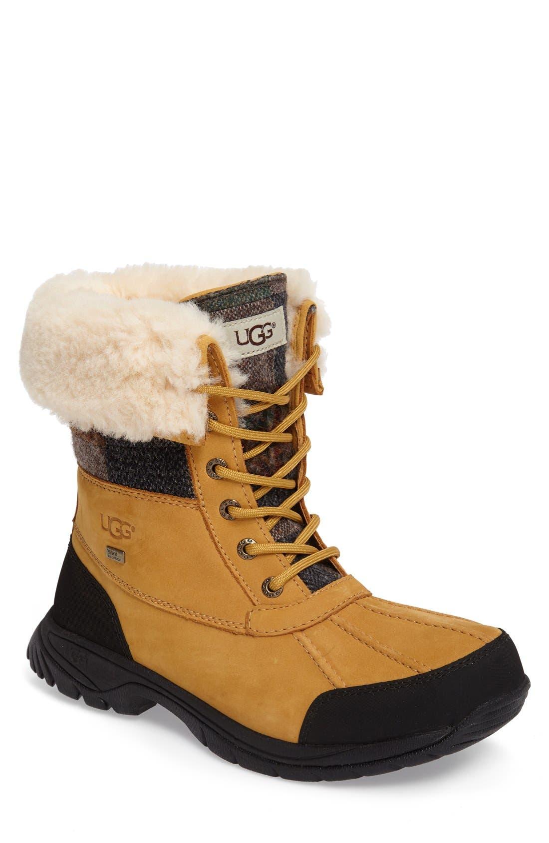 UGG® Butte Plaid Waterproof Boot (Men)