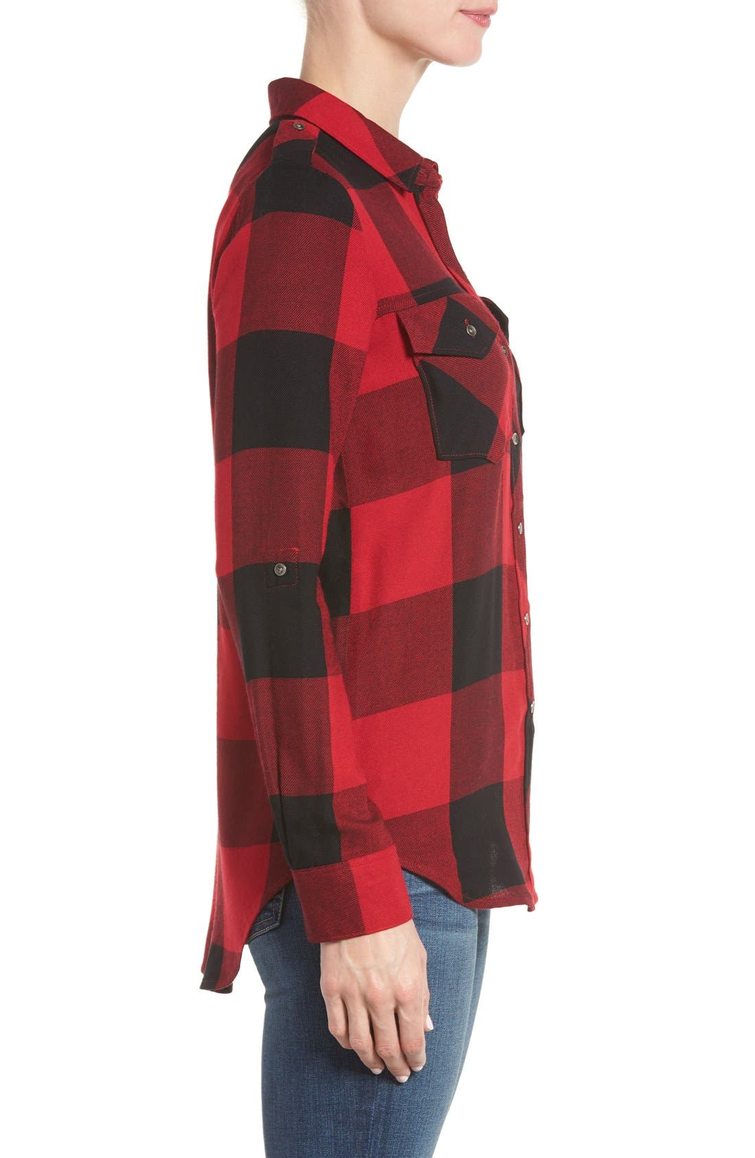 Alternate Image 3  - Dex Roll Sleeve Plaid Shirt