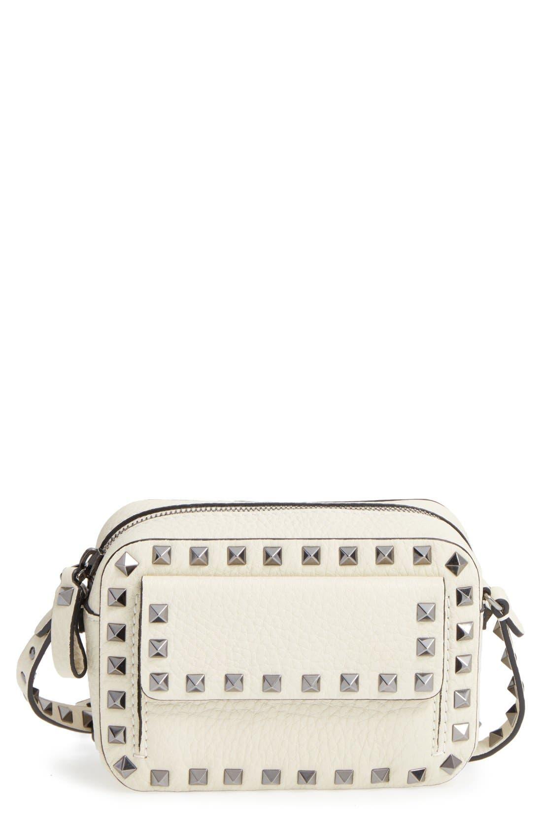 Main Image - Valentino Rockstud Mini Camera Crossbody Bag