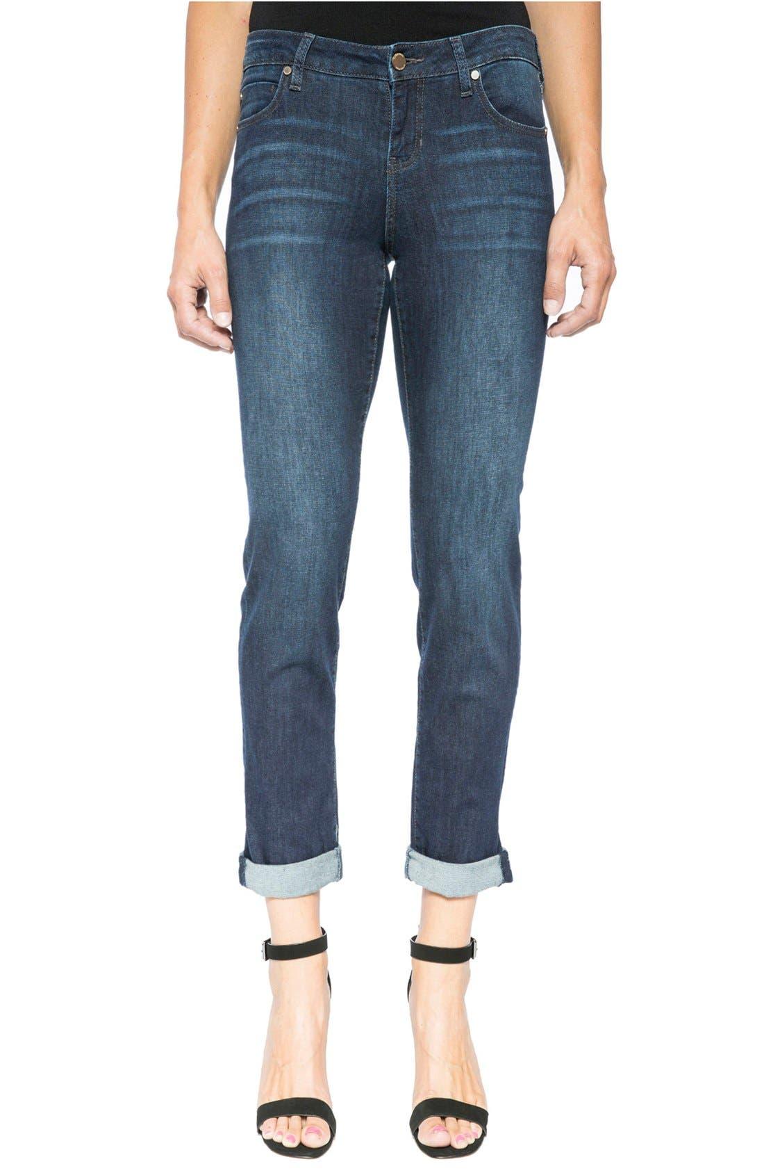 Liverpool Jeans Company Peyton Slim Stretch Crop Boyfriend Jeans (Vintage Super Dark)