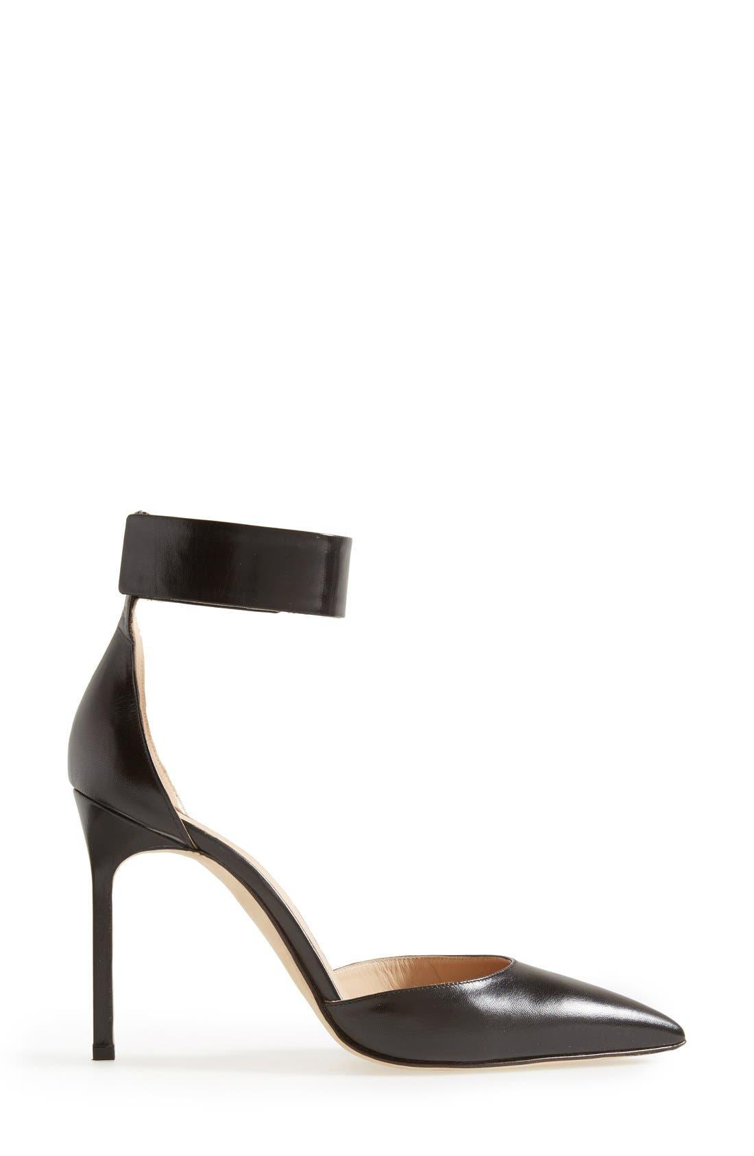 Alternate Image 4  - Manolo Blahnik 'Ollico' Ankle Cuff d'Orsay Pump (Women)