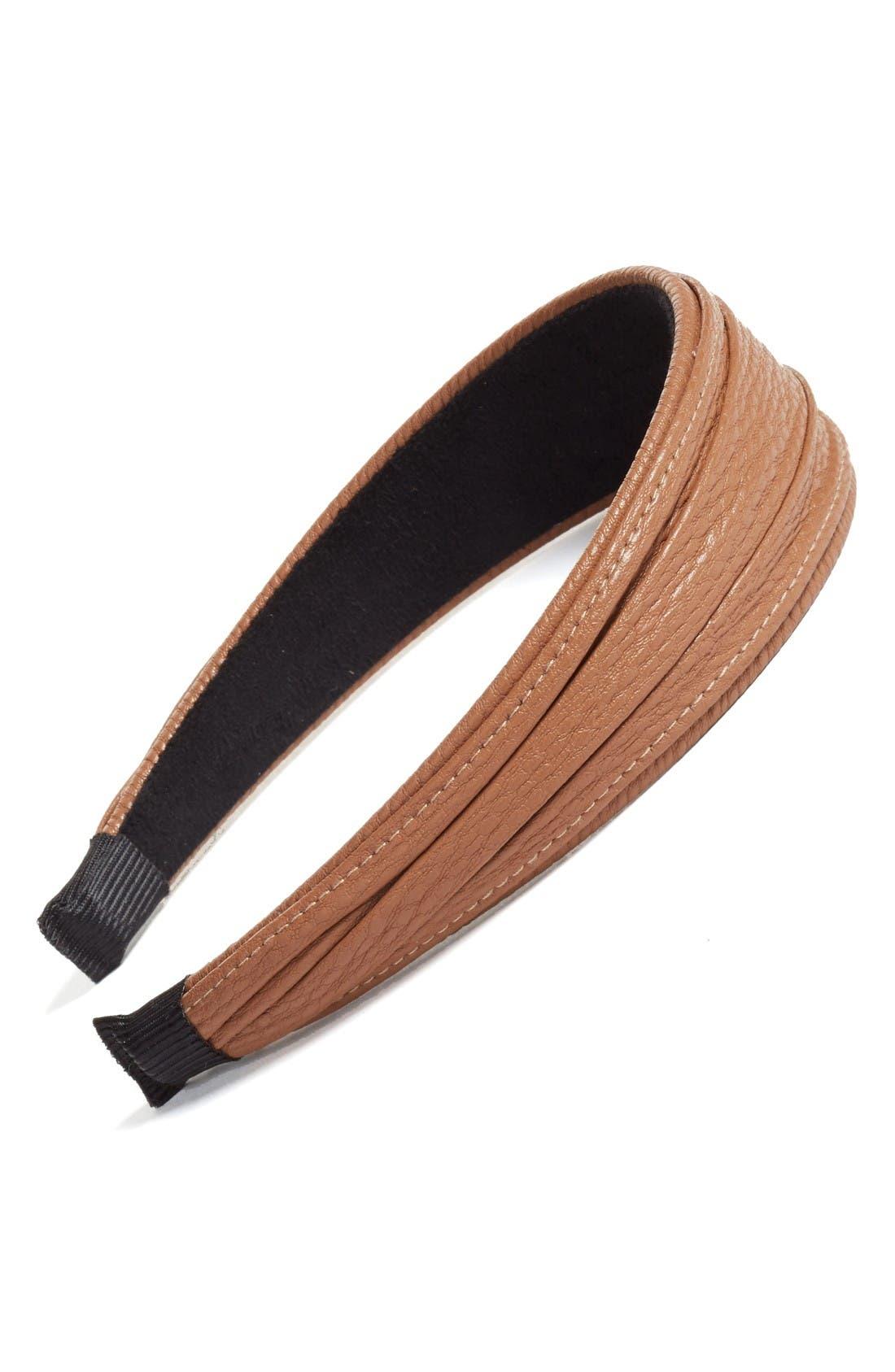 Main Image - Cara Faux Leather Headband
