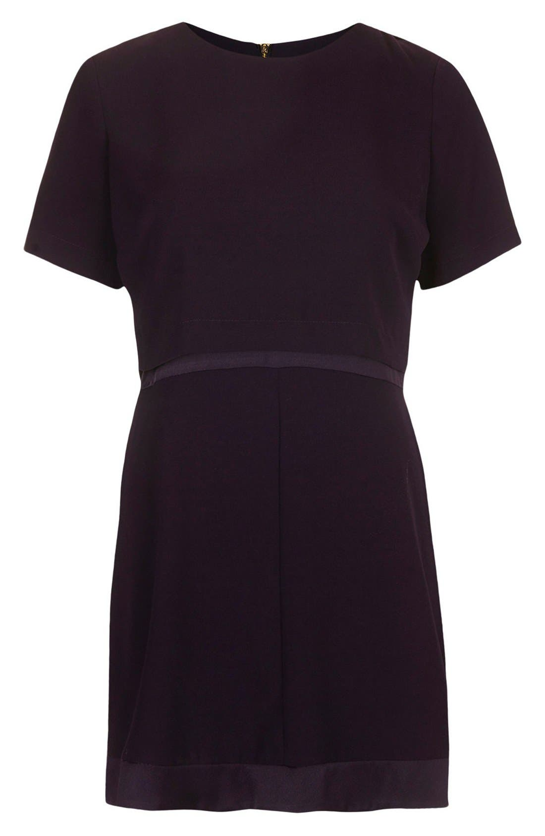 Alternate Image 3  - Topshop Satin Trim Overlay Dress